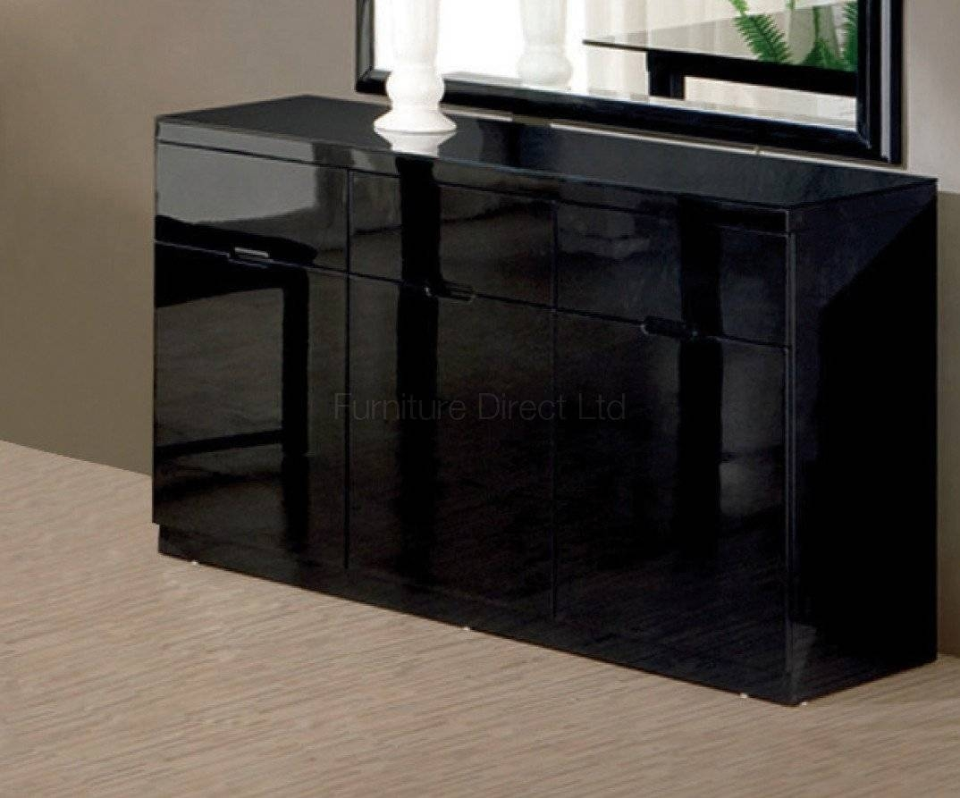 Black Gloss Furniture inside High Gloss Black Sideboards (Image 5 of 30)