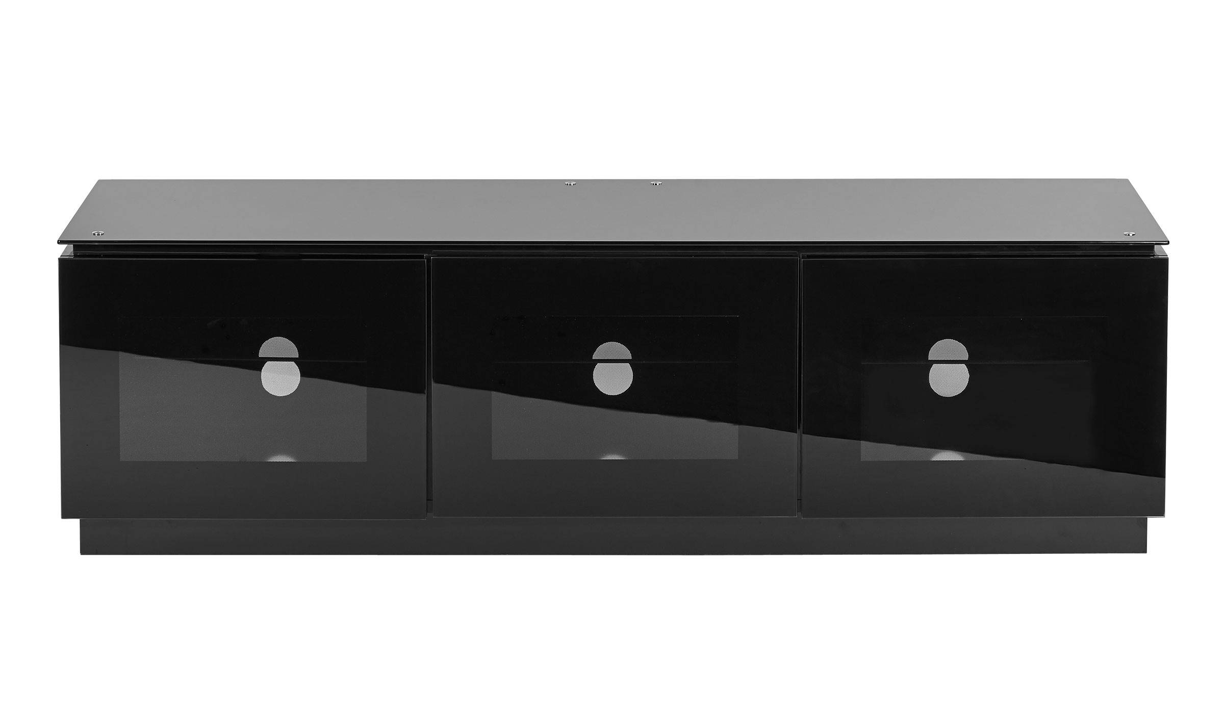 Black Gloss Tv Unit Up To 65 Inch Flat Tv | Mmt-D1500 with regard to Black Gloss Sideboards (Image 4 of 30)