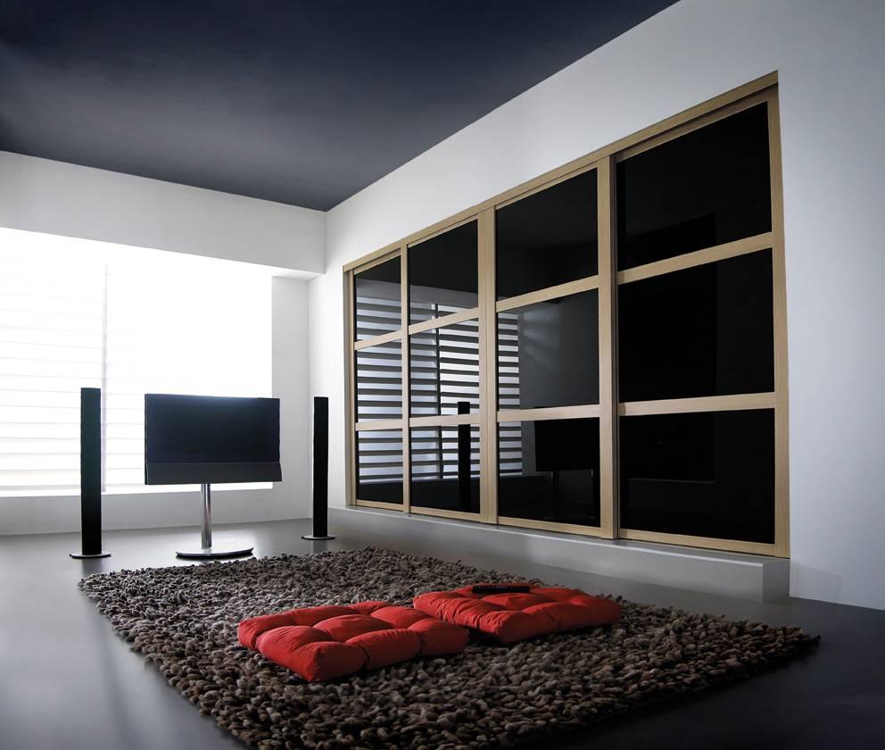 Black Gloss Wardrobe Sliding Doors | Slide Wardrobes Direct in Black Sliding Wardrobes (Image 2 of 15)