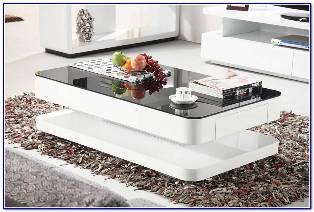 Black High Gloss Coffee Table With Drawers – Coffee Table : Home In Coffee Tables White High Gloss (View 3 of 30)