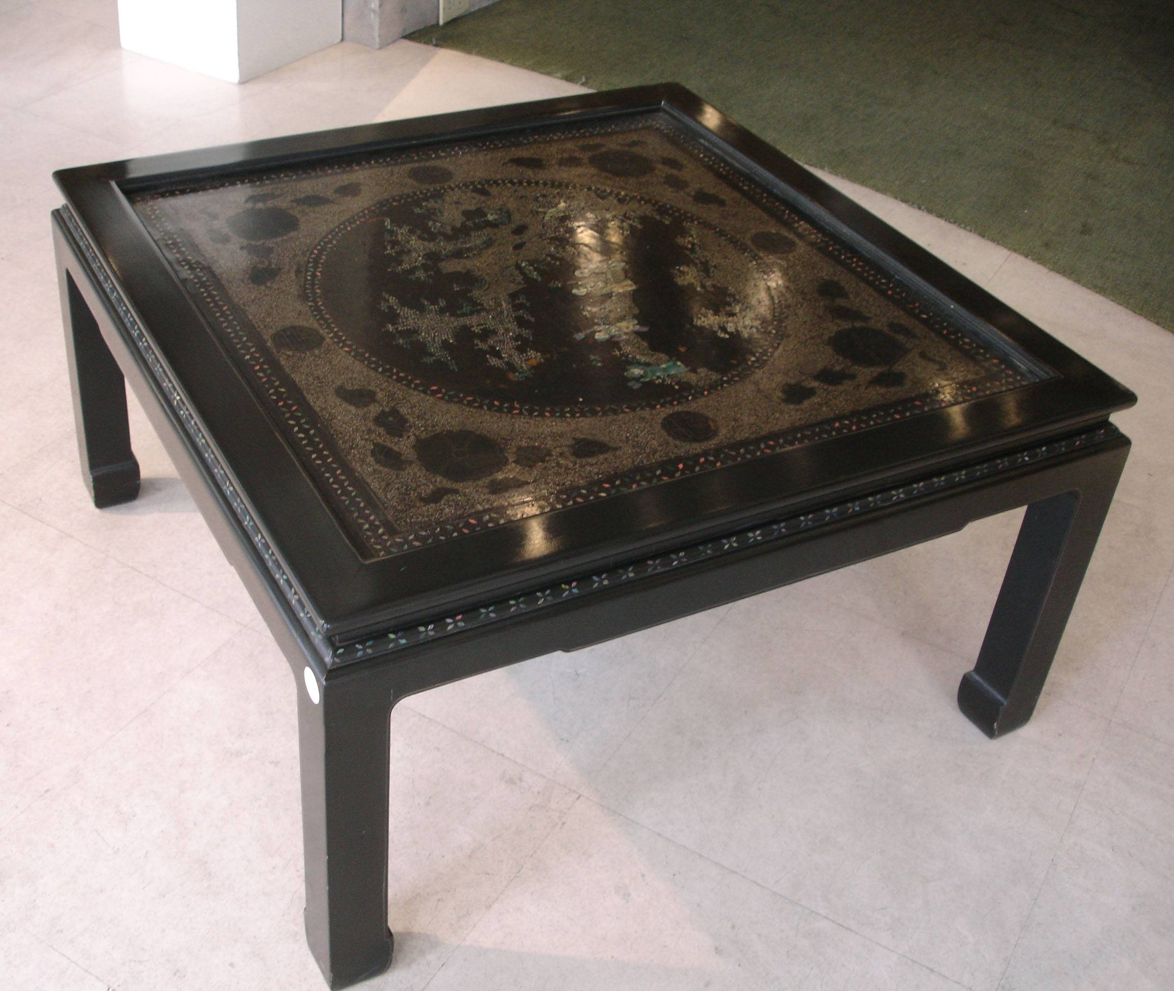 Black Lacquer And Mother Of Pearl Coffee Table | Chinese Porcelain with regard to Mother Of Pearl Coffee Tables (Image 1 of 30)