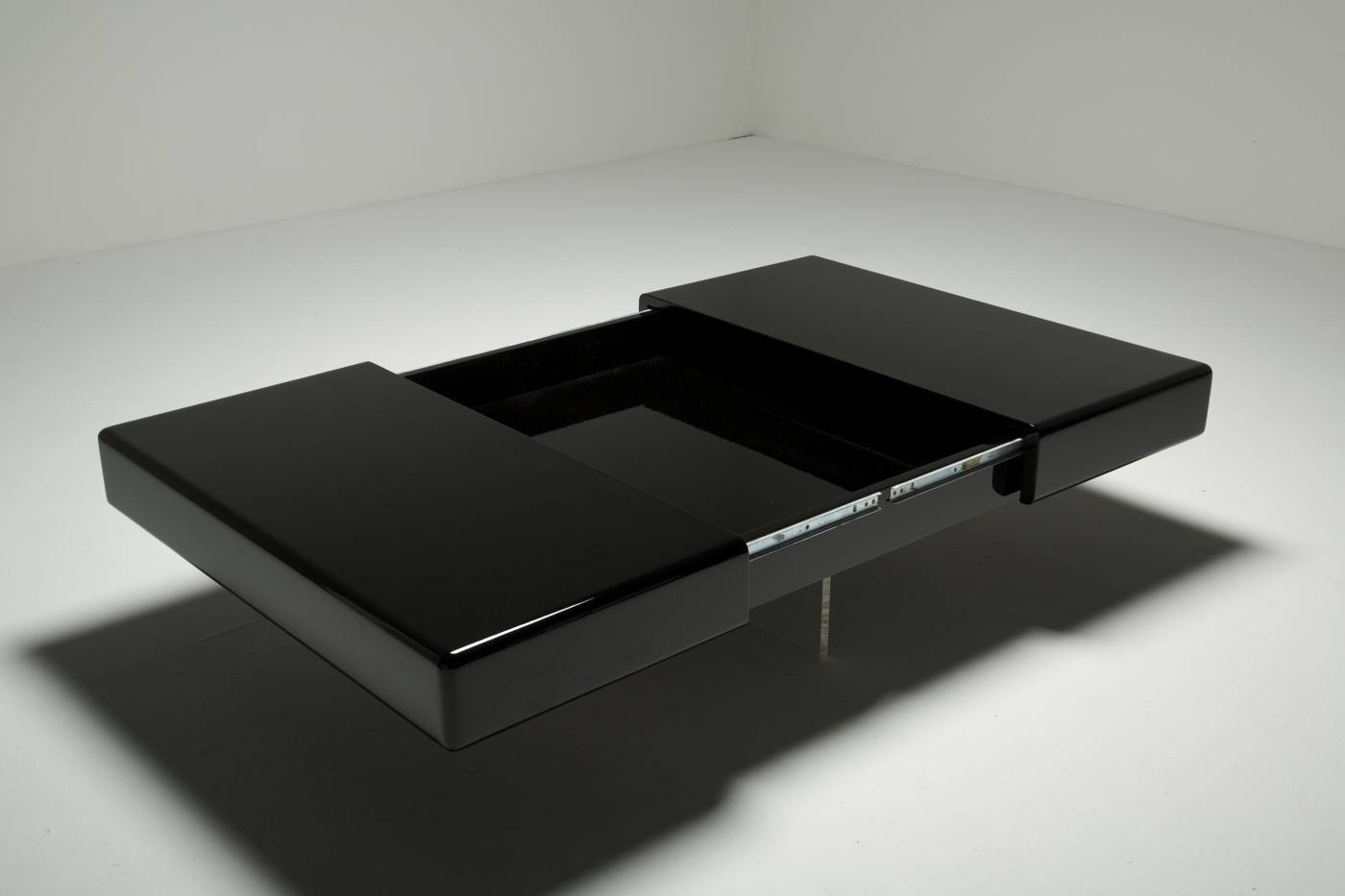 Black Lacquer Coffee Table With Perspex Base For Sale At Pamono with regard to Lacquer Coffee Tables (Image 7 of 30)