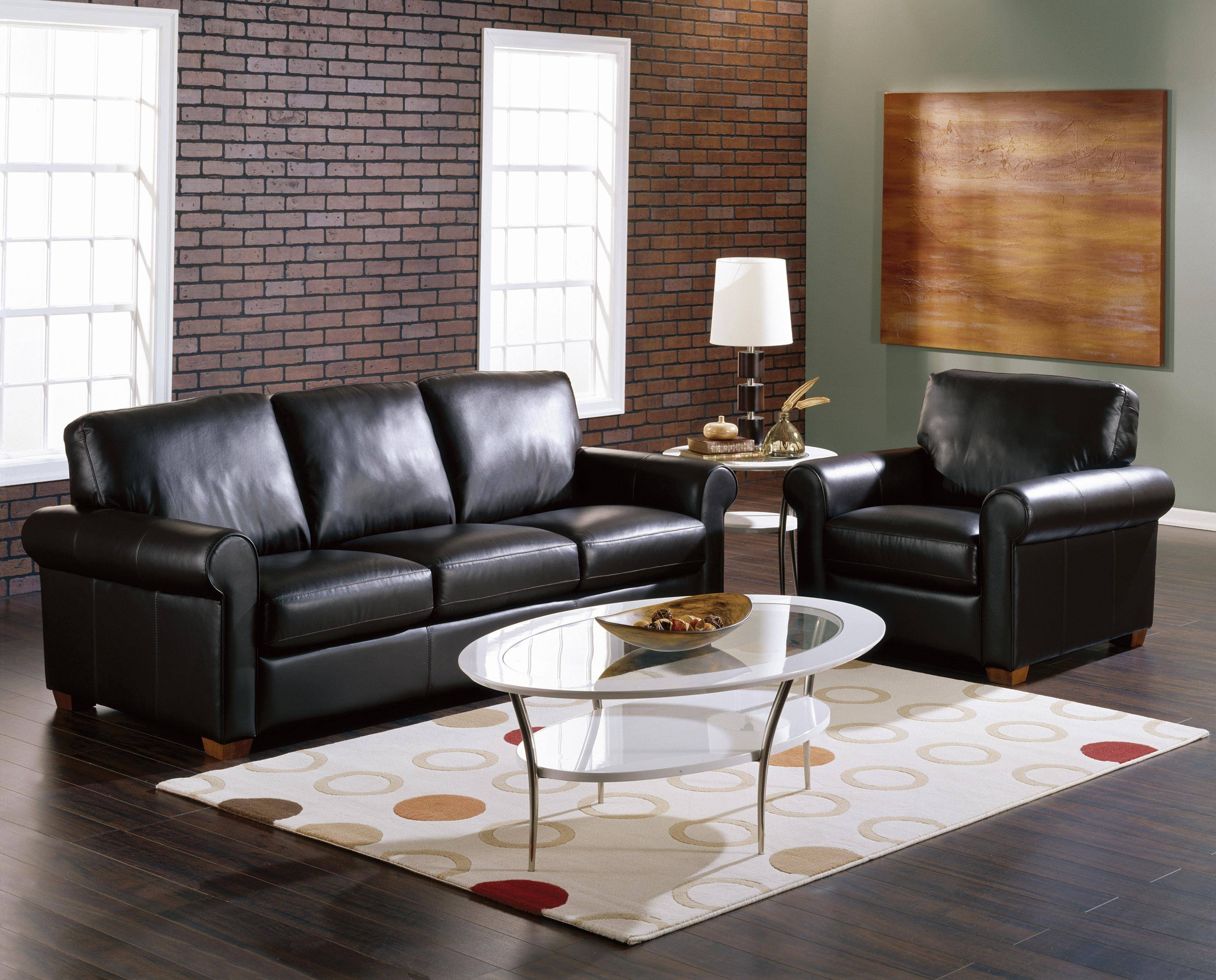 Black Leather Couches | Home Design Ideas in The Brick Leather Sofa (Image 6 of 30)