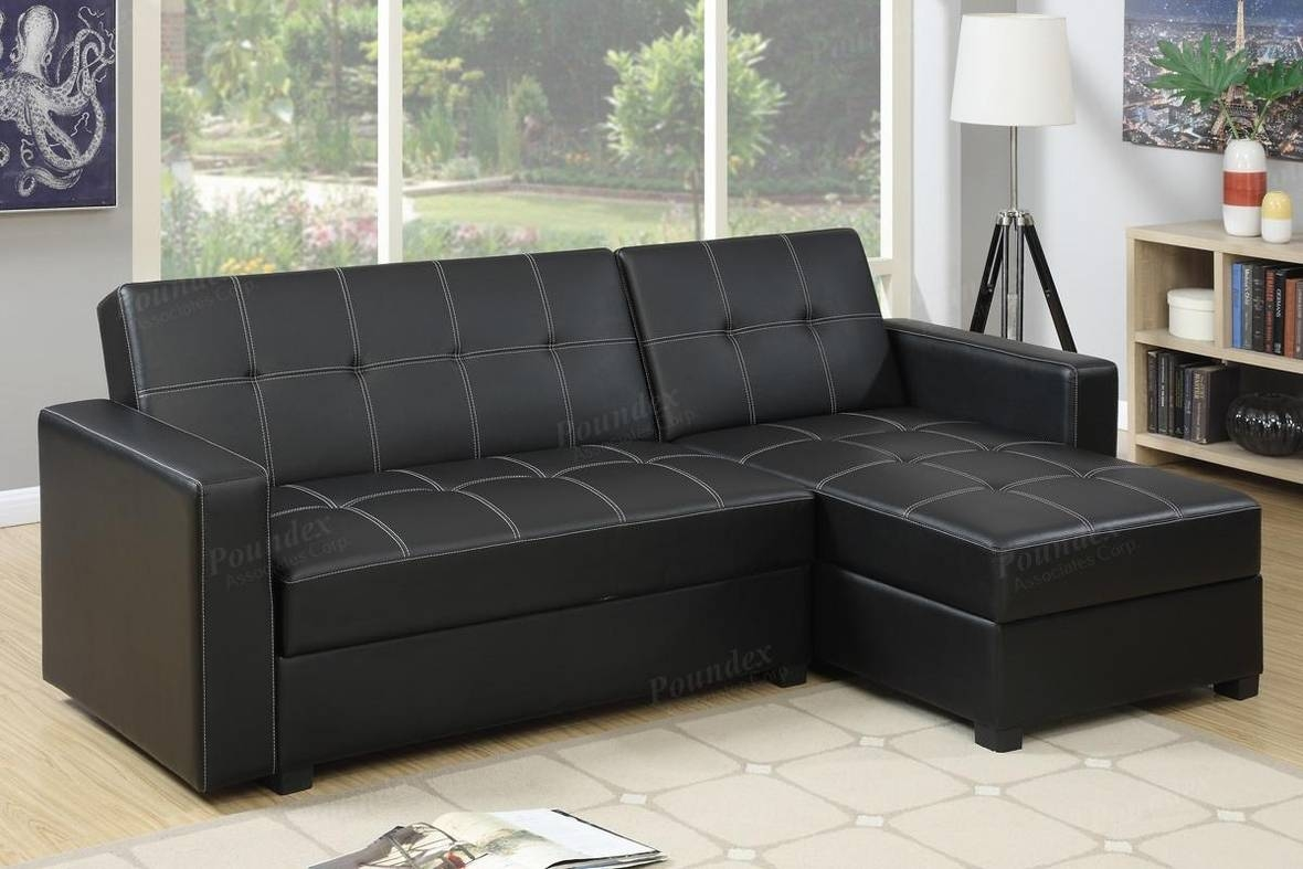 Black Leather Sectional Sofa Bed – Steal A Sofa Furniture Outlet For Sectional Sofa Bed With Storage (View 2 of 25)