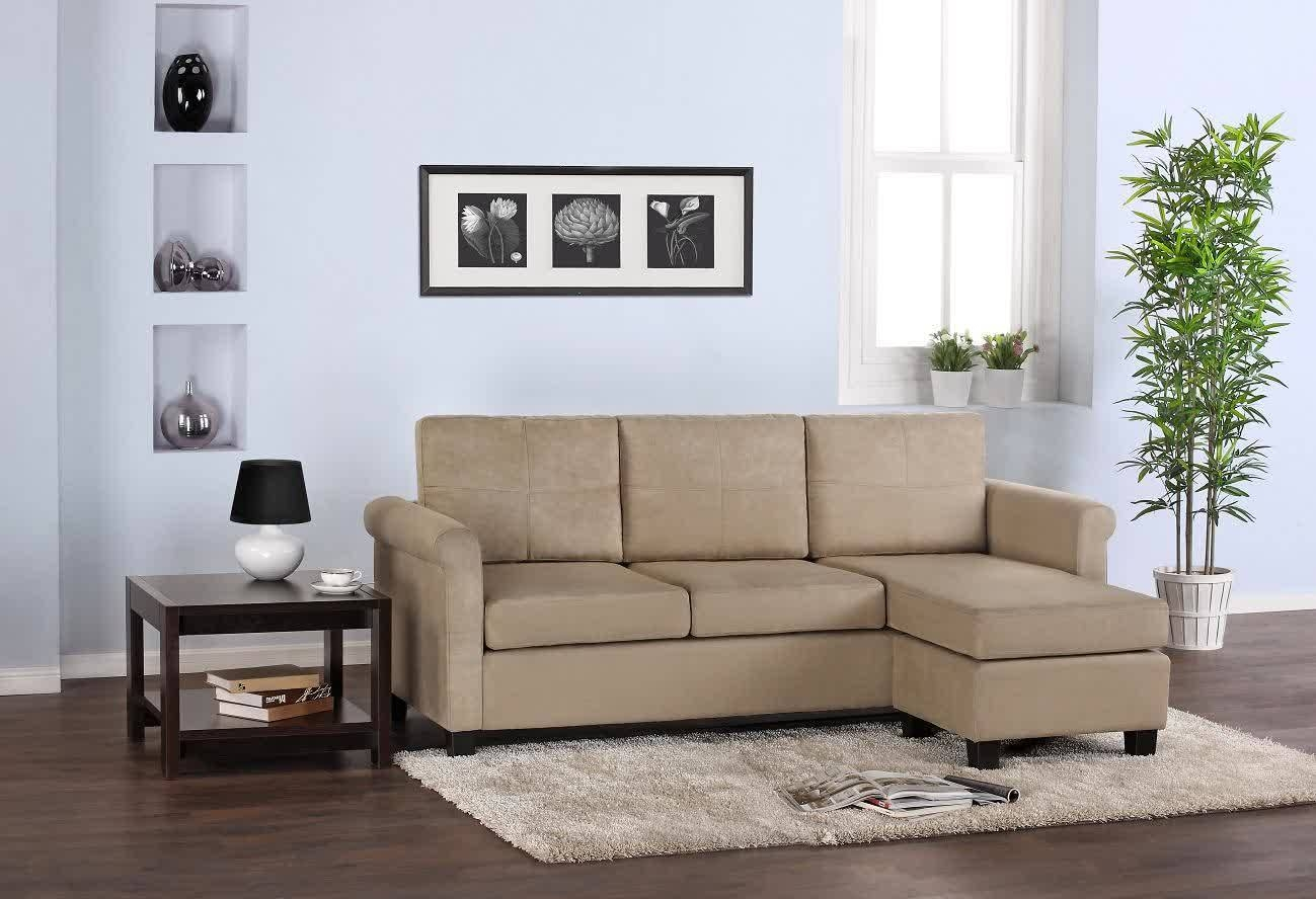 Black Leather Sectionals Canada. Amala Blue Fabric Sectional Sofa for Mini Sectional Sofas (Image 3 of 30)