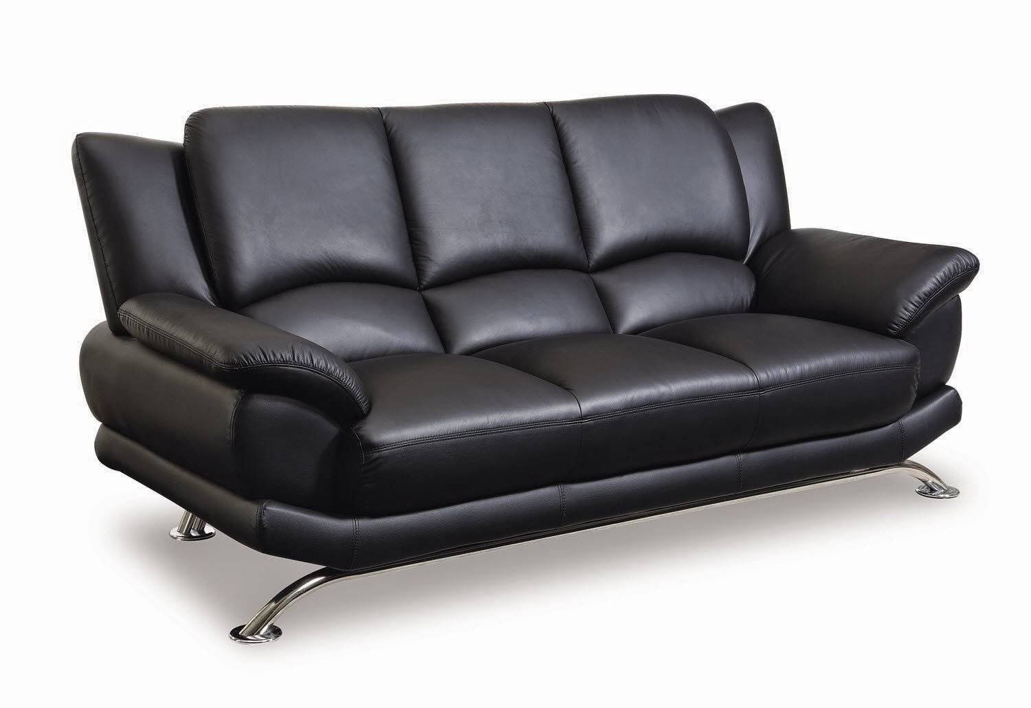 Black Leather Sofa for Contemporary Black Leather Sofas (Image 5 of 30)