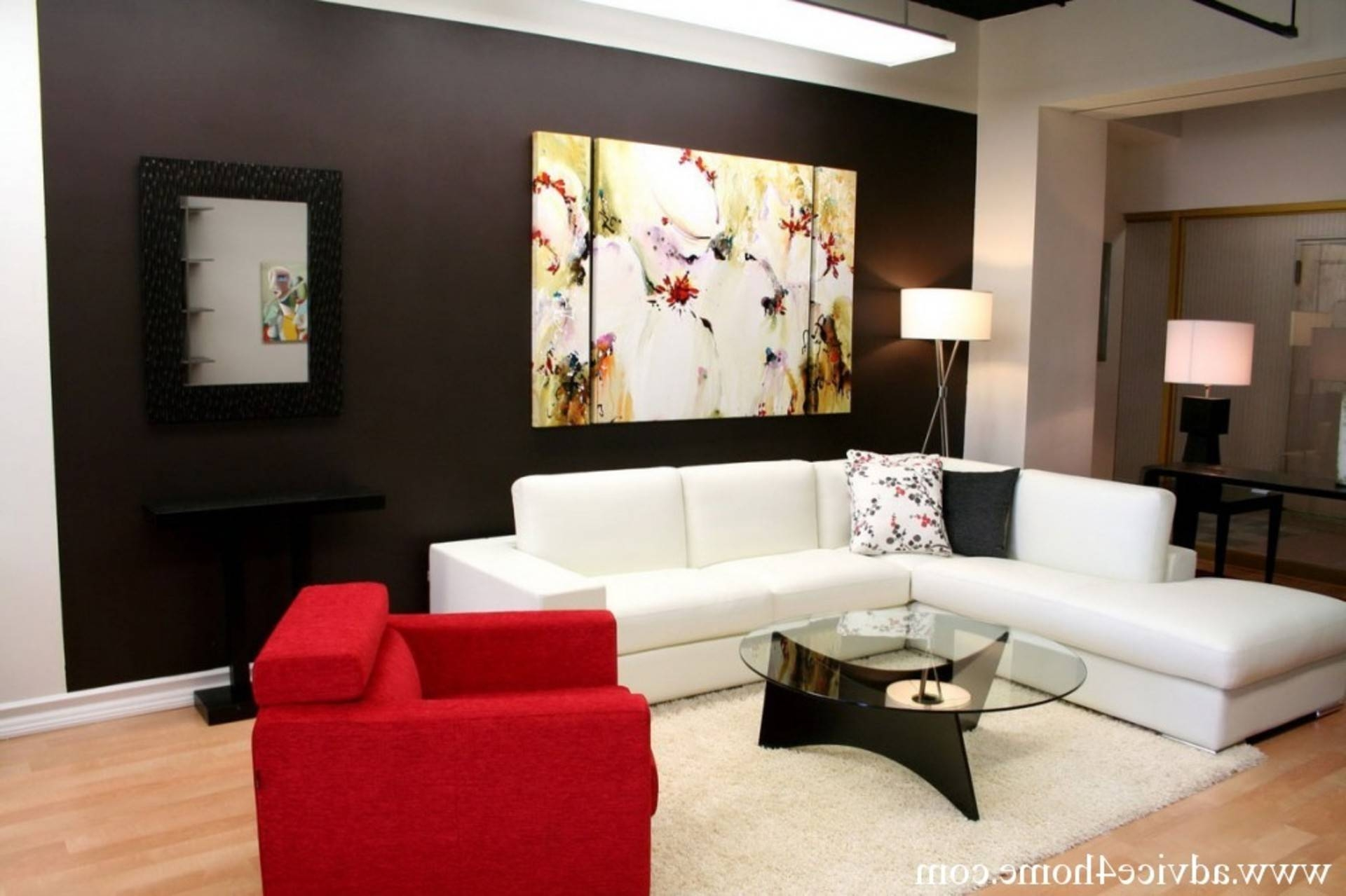 Black Living Room Furniture Decorating Ideas White Sofa Cream Rug inside Decorating With A Sectional Sofa (Image 14 of 30)