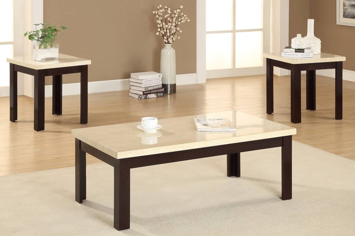 Black Living Room Table Set In Coffee Tables And Side Table Sets (View 6 of 30)