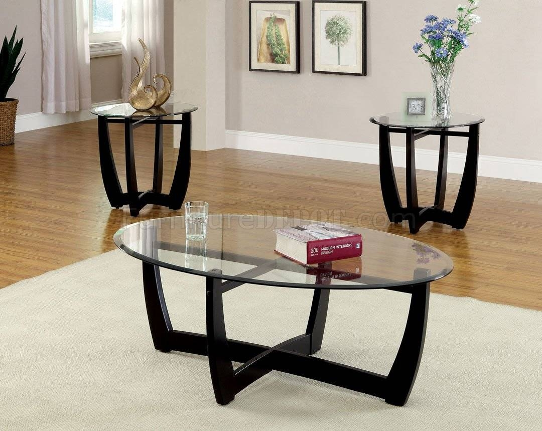 Black Living Room Table Set throughout 2 Piece Coffee Table Sets (Image 6 of 30)