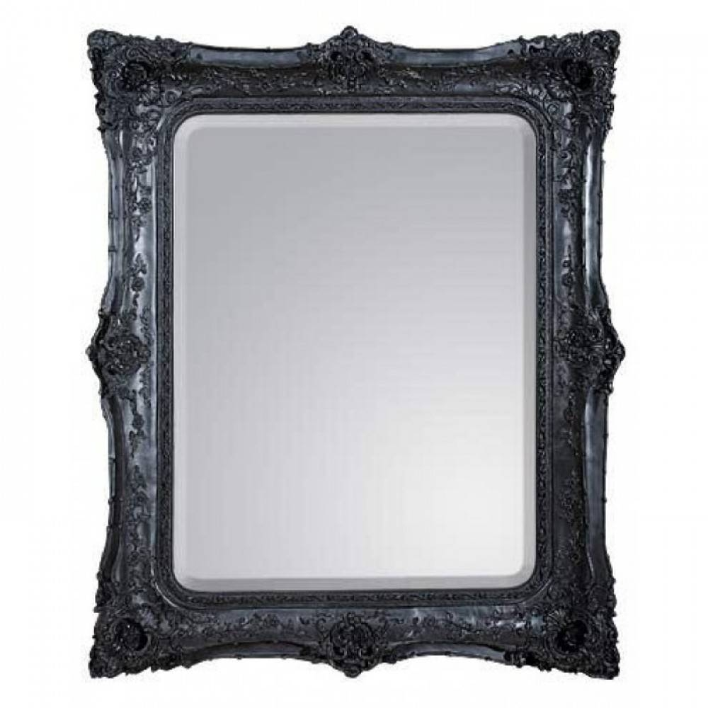Black Mirrors with Black Baroque Mirrors (Image 12 of 25)