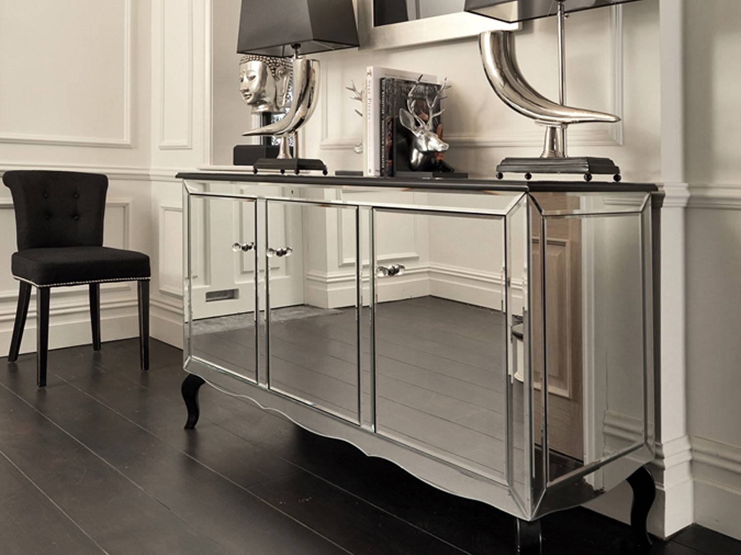 Black Orchid | Mirrored Sideboard | Black Gloss Cabinet intended for Mirrored Sideboards (Image 5 of 30)