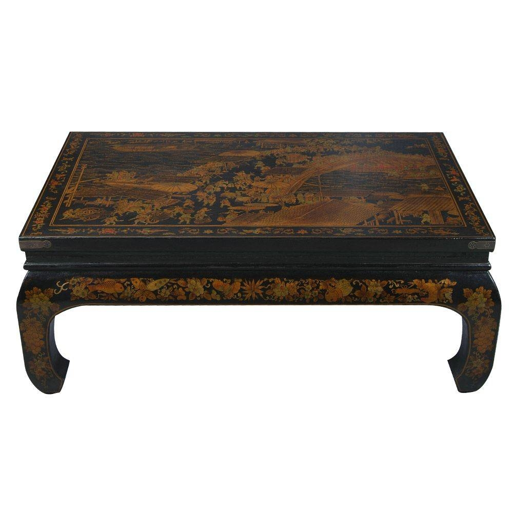 Black Oriental Coffee Table — Liberty Interior : Oriental Coffee throughout Asian Coffee Tables (Image 6 of 30)