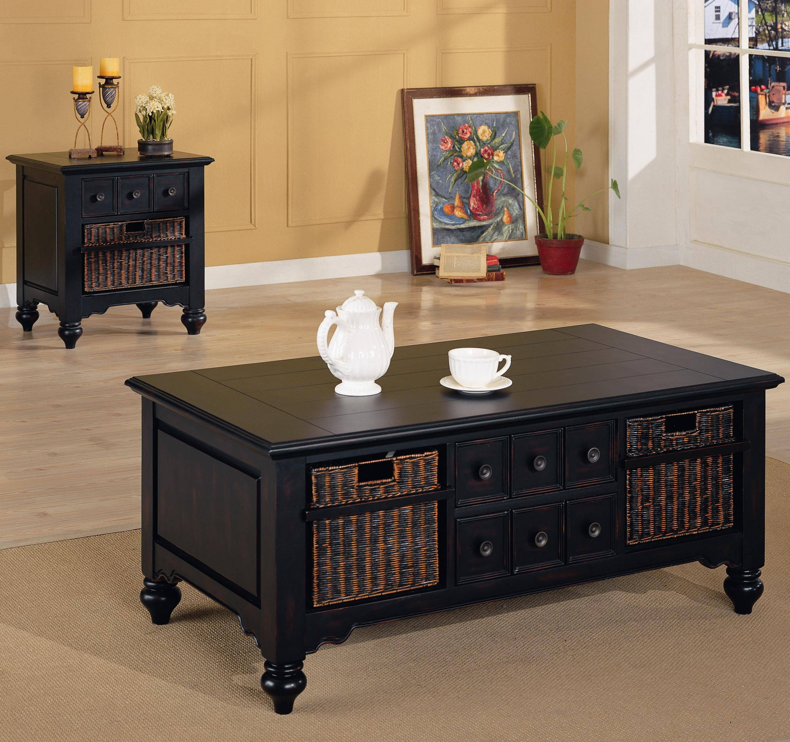 Black Round End Table With Drawer - Starrkingschool for Small Coffee Tables With Drawer (Image 2 of 30)