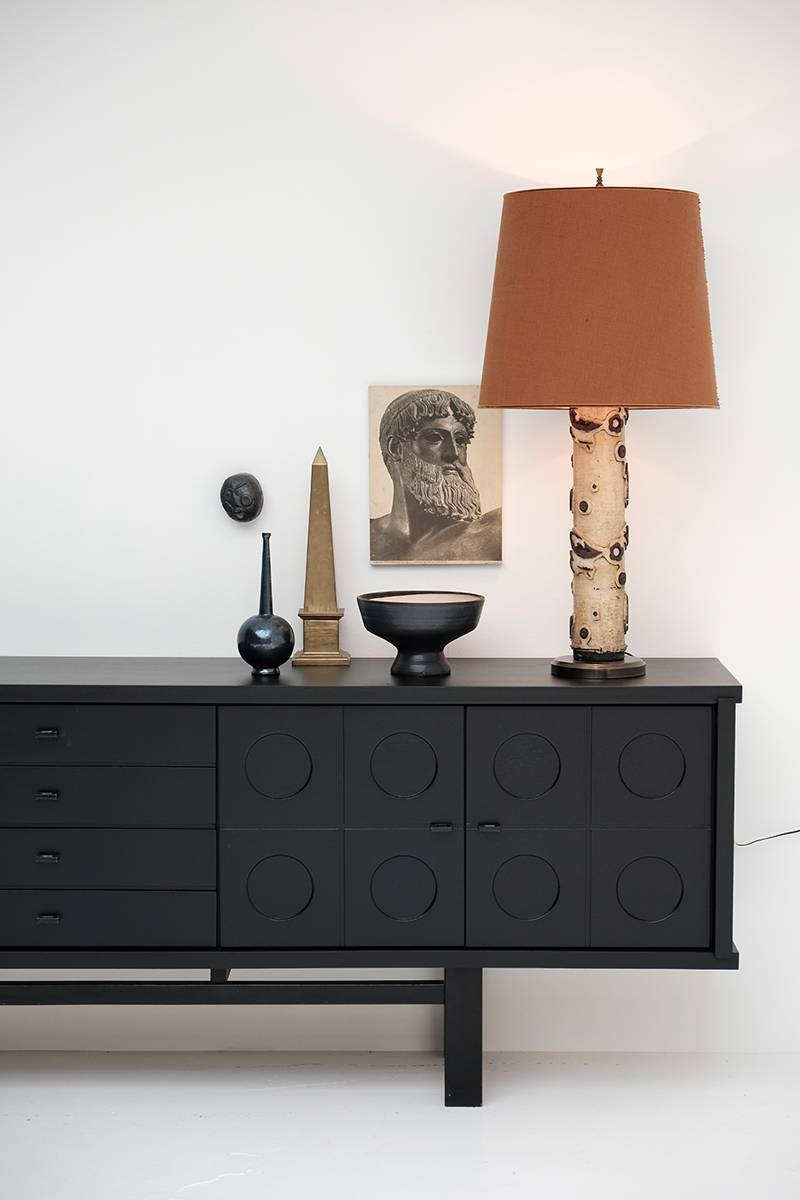 Black Side Board. A Sideboard In Concrete And Black. Chinoiserie inside Black Gloss Sideboards (Image 7 of 30)