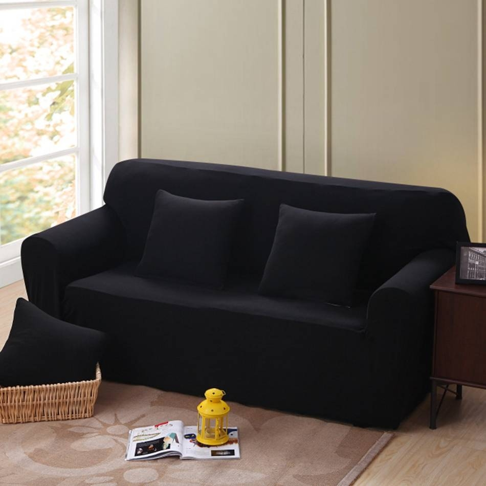 Black Sofa Slipcover Promotion-Shop For Promotional Black Sofa throughout Black Slipcovers For Sofas (Image 3 of 30)