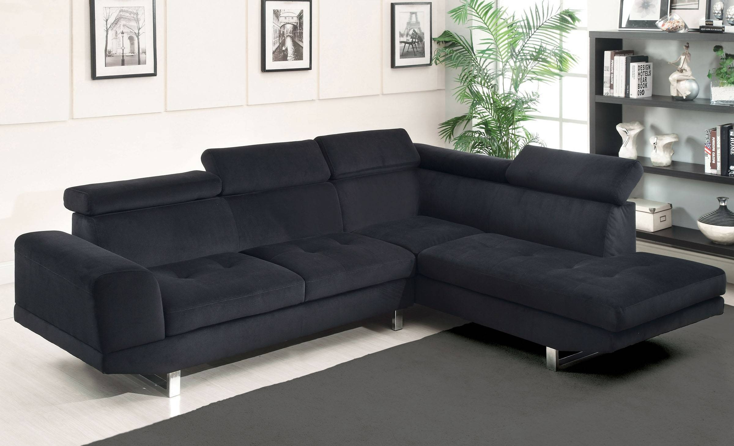 Black Sofas For Sale | Tehranmix Decoration for L Shaped Fabric Sofas (Image 7 of 30)