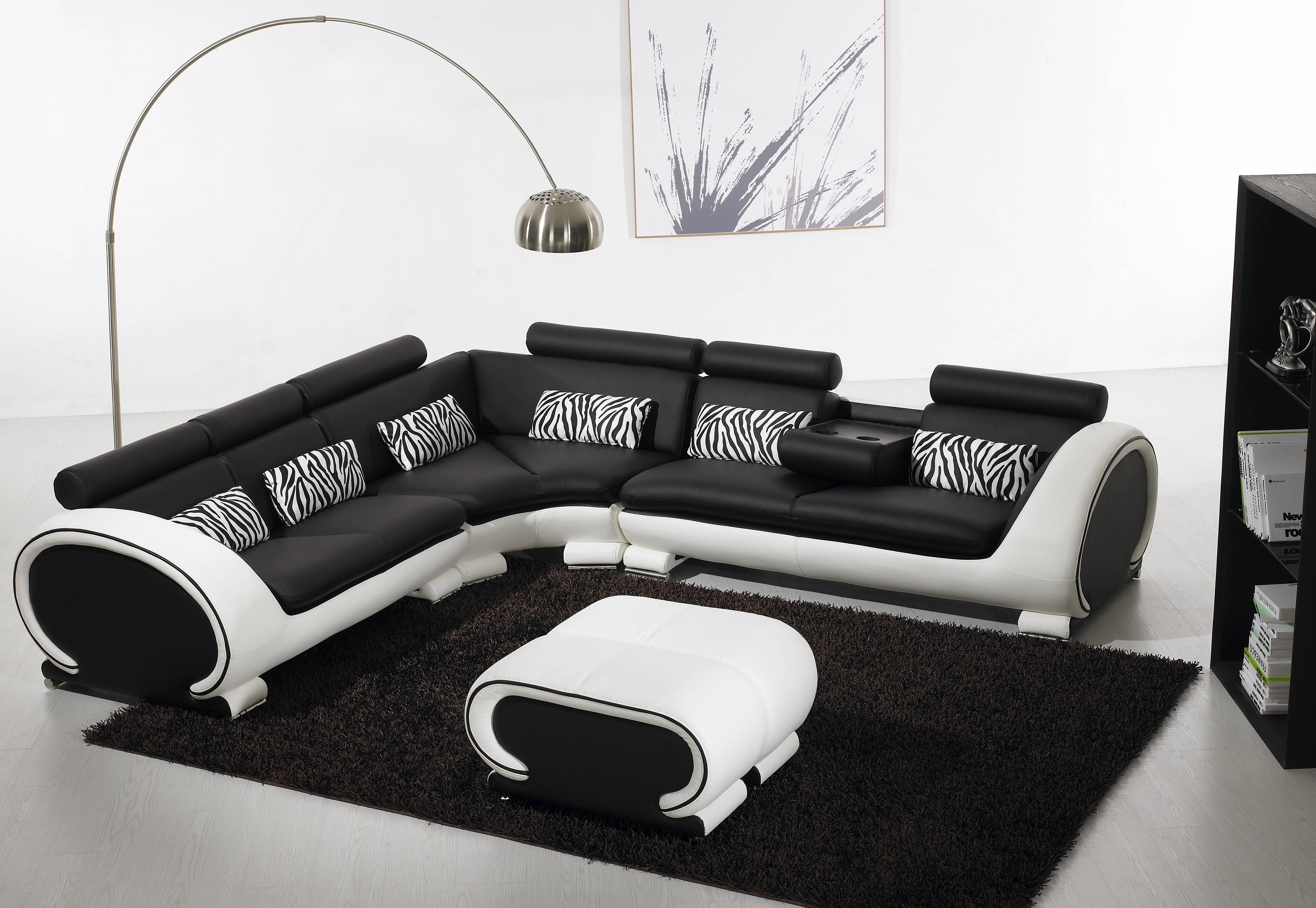 Featured Photo of White And Black Sofas