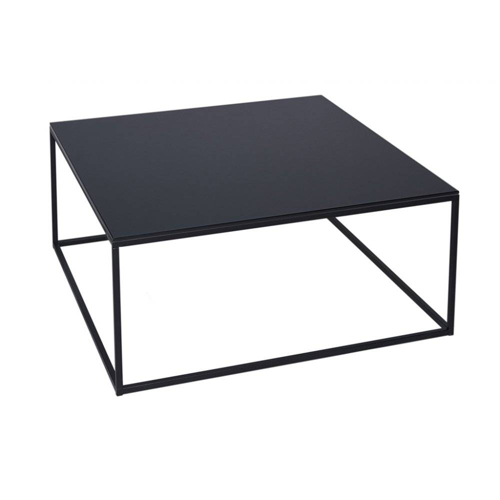 Black Square Coffee Table | Coffee Tables Decoration pertaining to Metal Square Coffee Tables (Image 3 of 30)
