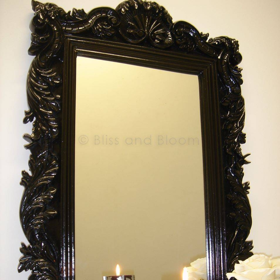 Black Wall Mirror | Bliss And Bloom Ltd throughout Black Baroque Mirrors (Image 13 of 25)