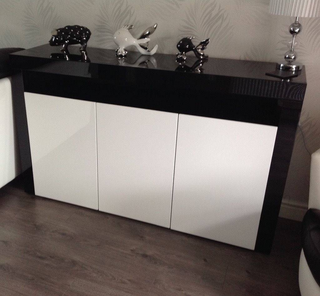 Black & White High Gloss Sideboards For Sale | In Peterlee, County within Black High Gloss Sideboards (Image 2 of 30)