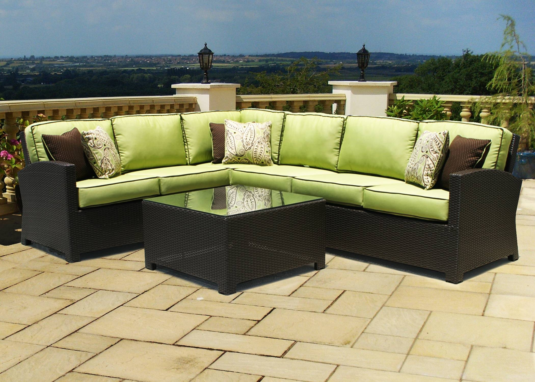 Black Wicker Sectional Patio Furniture | Patio Decoration intended for Modern Rattan Sofas (Image 7 of 30)