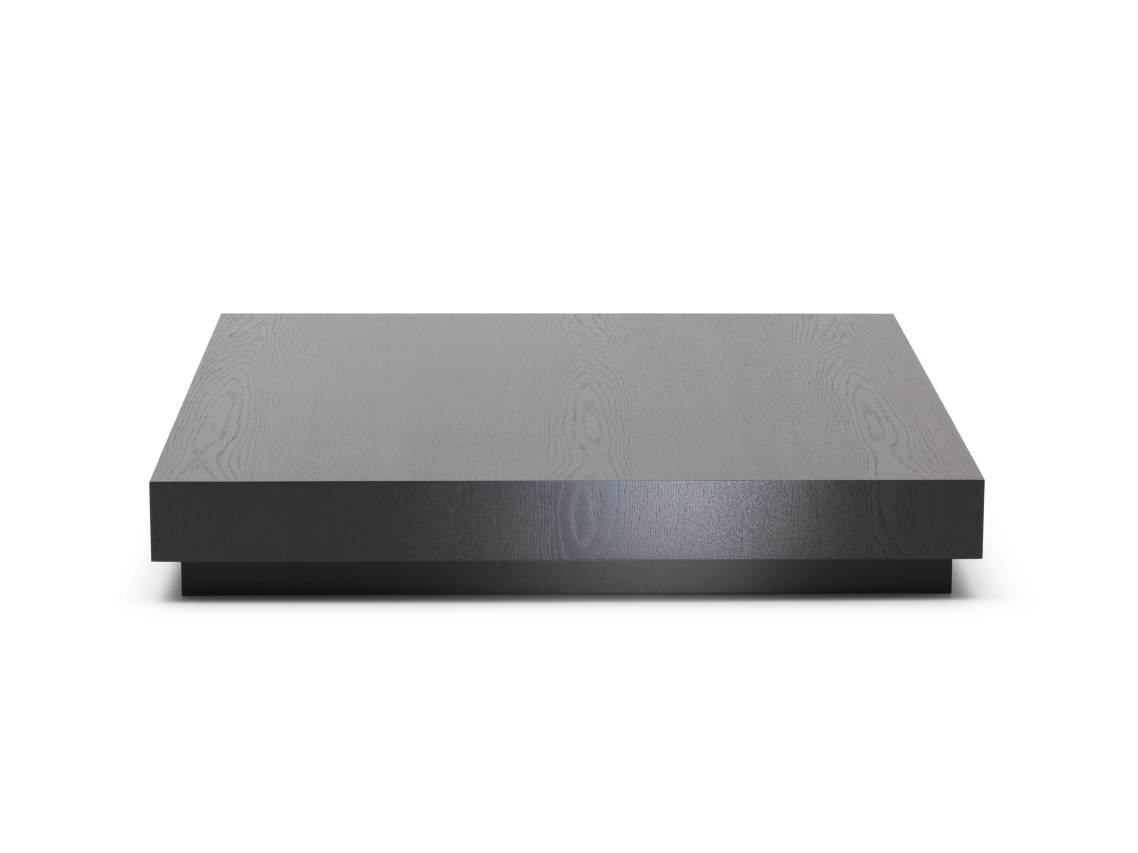 Black Wood Coffee Table In The Modern Design — Coffee Tables Ideas Regarding Large Low Square Coffee Tables (View 18 of 30)