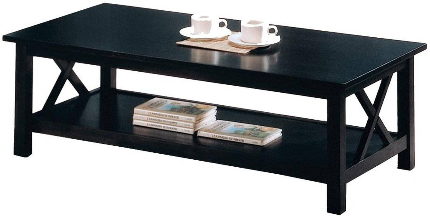 Black Wood Coffee Table Set - Steal-A-Sofa Furniture Outlet Los with Black Wood Coffee Tables (Image 4 of 30)