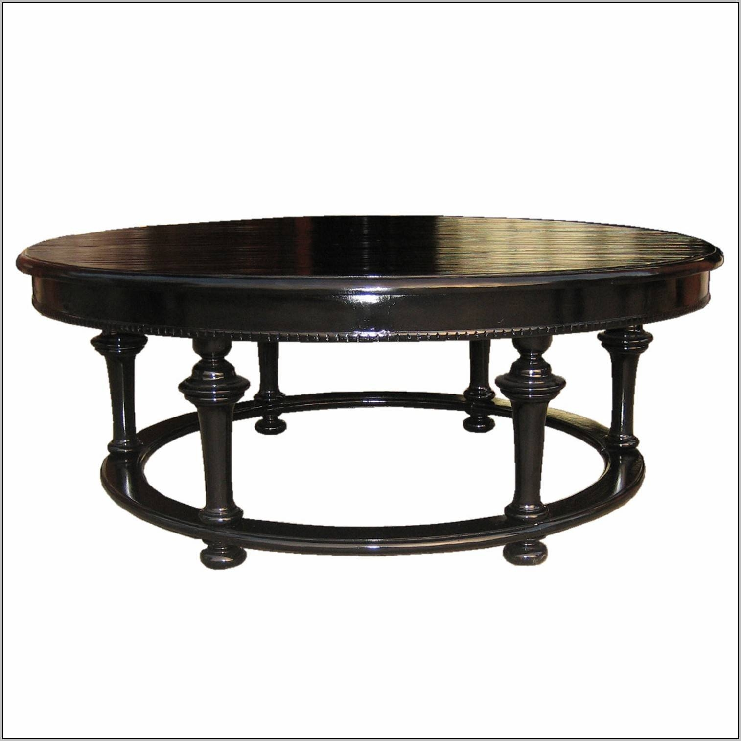 Black Wood Oval Coffee Table - Coffee Table : Home Decorating for Black Oval Coffee Tables (Image 7 of 30)