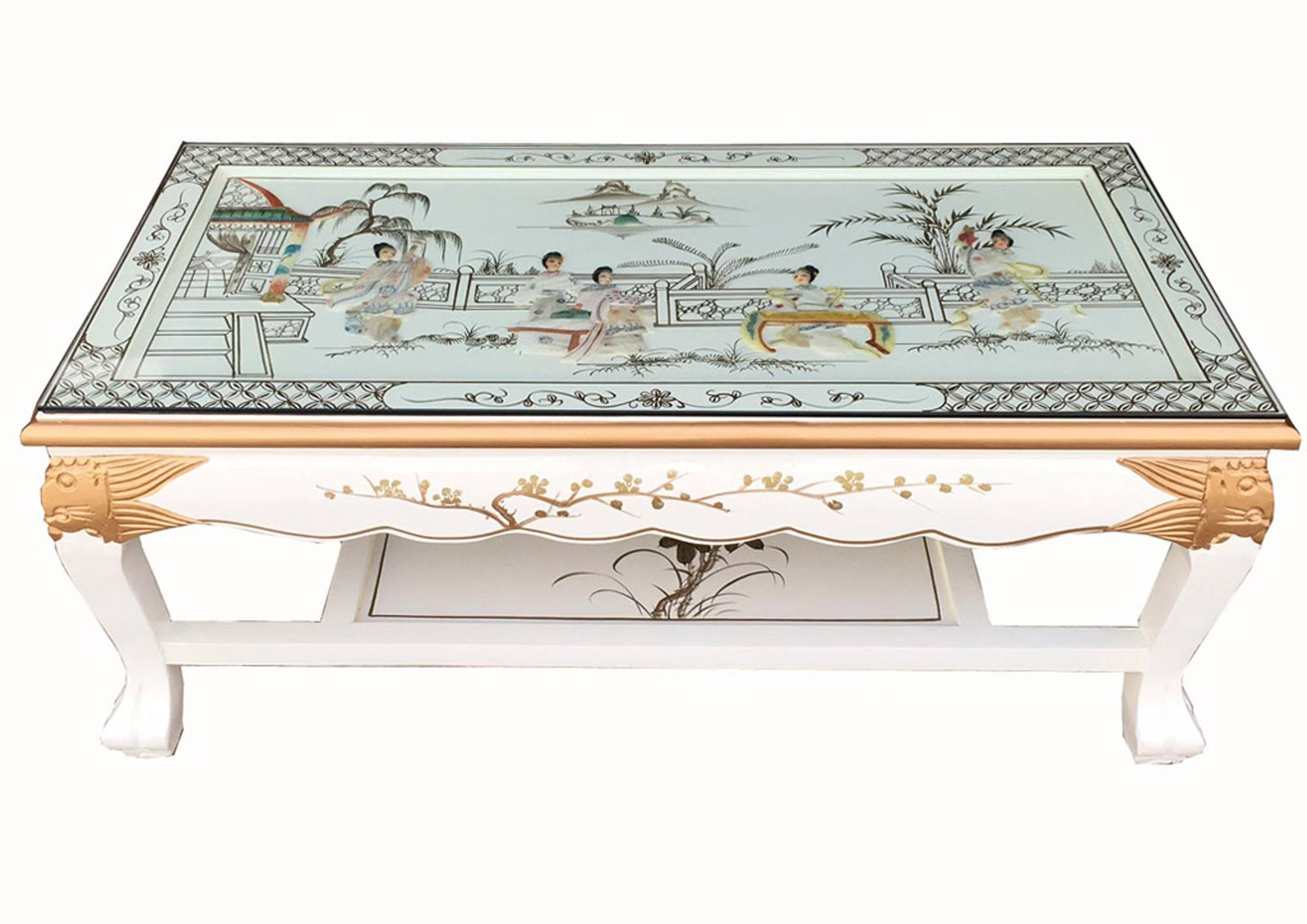 Blandsdirect :: Oriental Furniture :: White Lacquer Mother Of pertaining to Mother of Pearl Coffee Tables (Image 3 of 30)