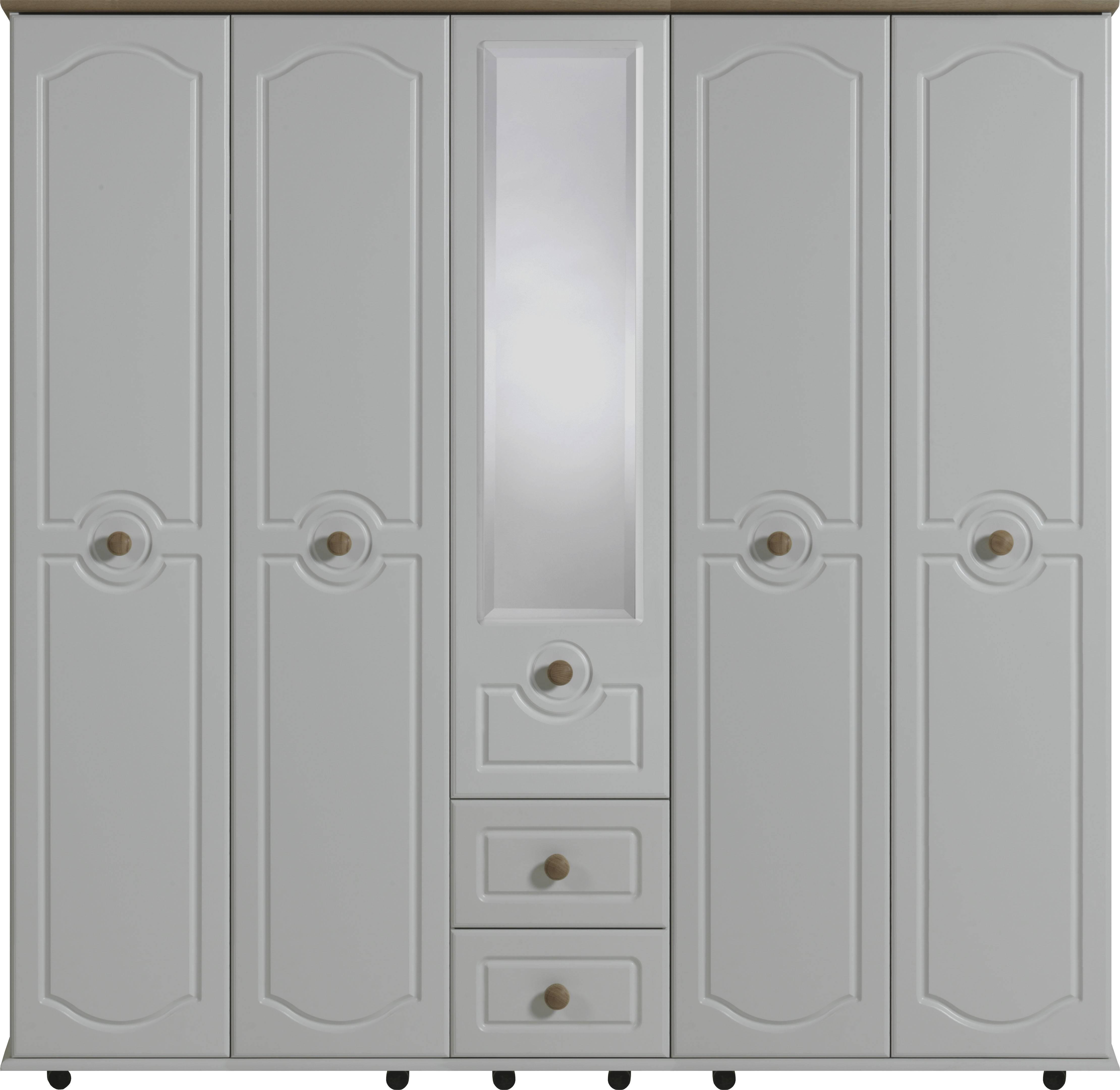 Bledlow 5 Door Wardrobe With 1 Mirror And 2 Drawers | Crendon Beds In 5 Door Wardrobes (View 15 of 15)