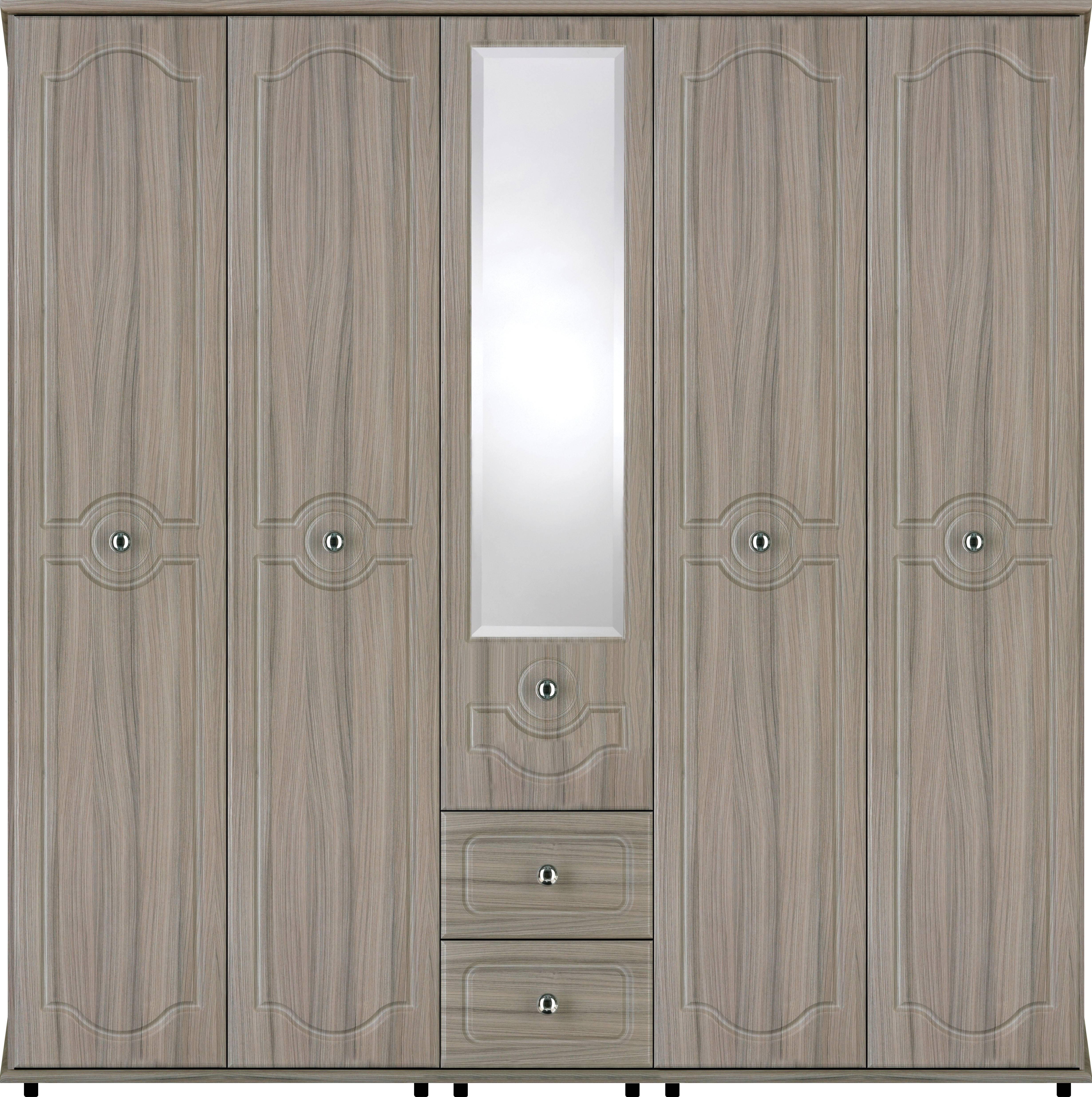 Bledlow 5 Door Wardrobe With 1 Mirror And 2 Drawers | Crendon Beds within 5 Door Wardrobes Bedroom Furniture (Image 9 of 15)
