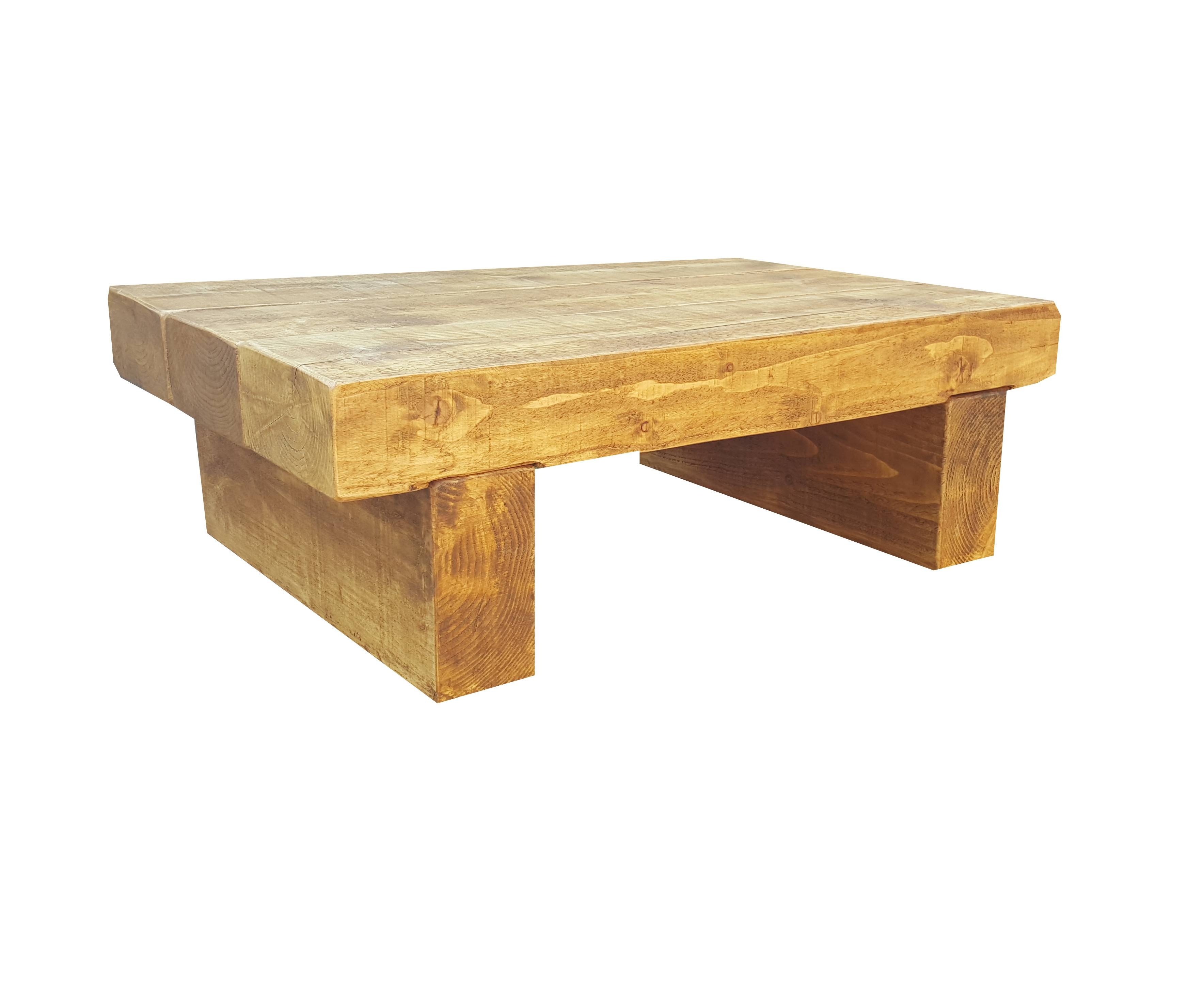Block Coffee Table – The Cool Wood Company Pertaining To Chunky Oak Coffee Tables (View 7 of 30)