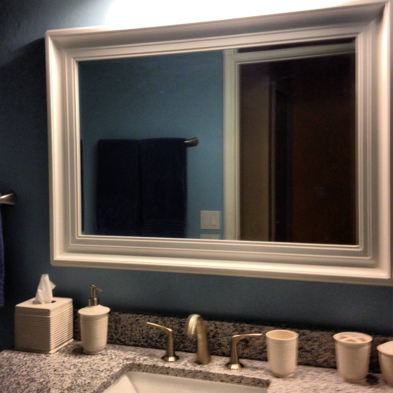 Blue Bathroom Mirror Frames : Making Bathroom Mirror Frames – Home pertaining to Mirrors With Blue Frame (Image 8 of 25)