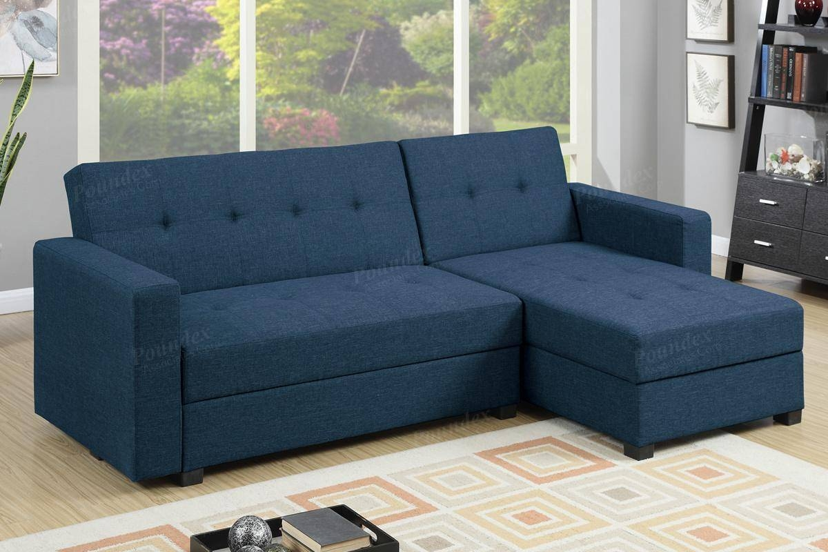 Blue Fabric Sectional Sofa Bed - Steal-A-Sofa Furniture Outlet Los with regard to Sectional Sofas Los Angeles (Image 4 of 25)