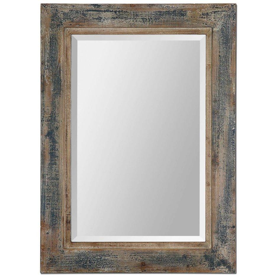 Blue Frame Reclaimed Wood Mirror With Uttermost Bozeman Heavily throughout Mirrors With Blue Frame (Image 9 of 25)