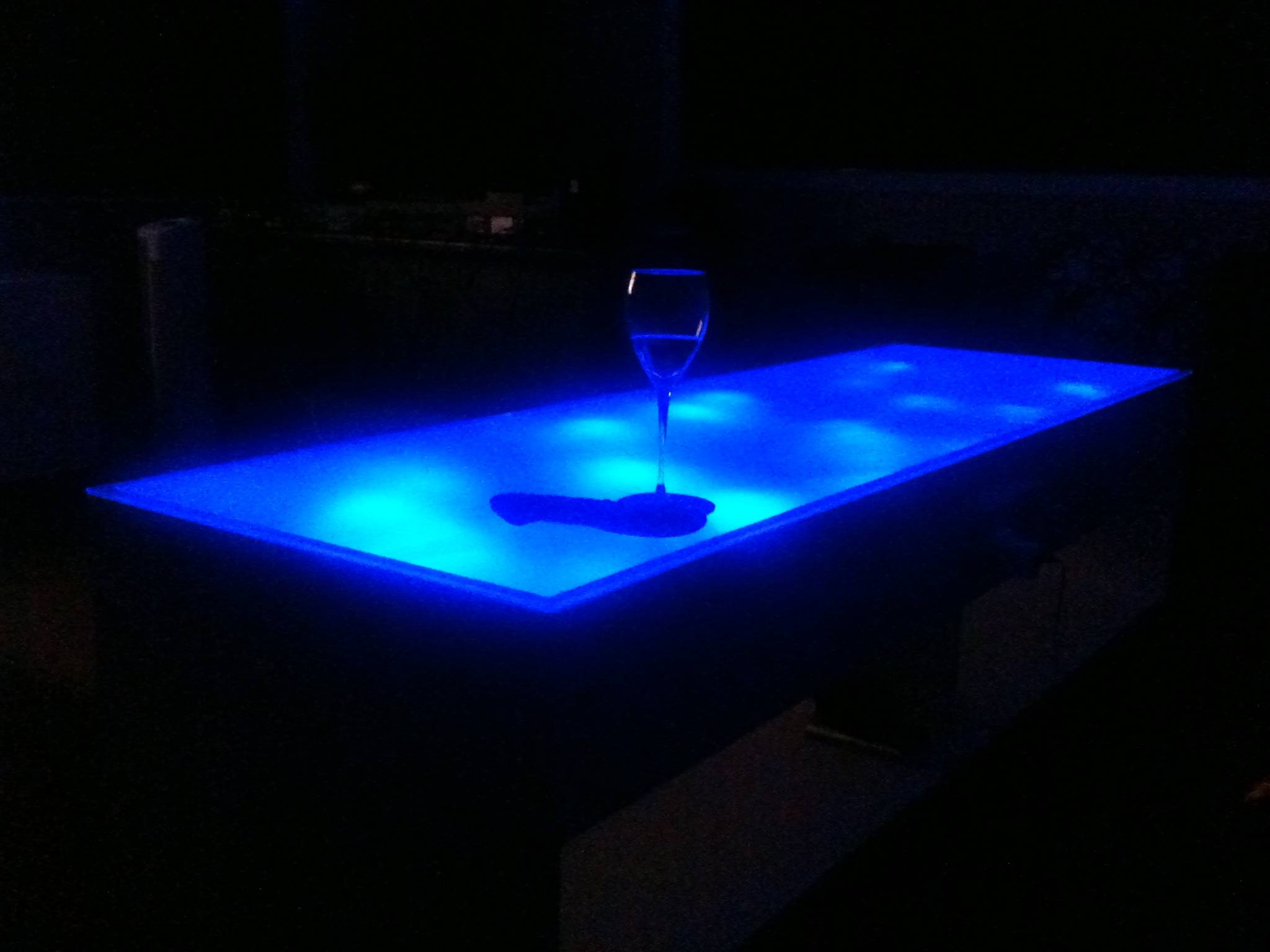 Blue Led Coffee Table – K Otik for Led Coffee Tables (Image 3 of 30)