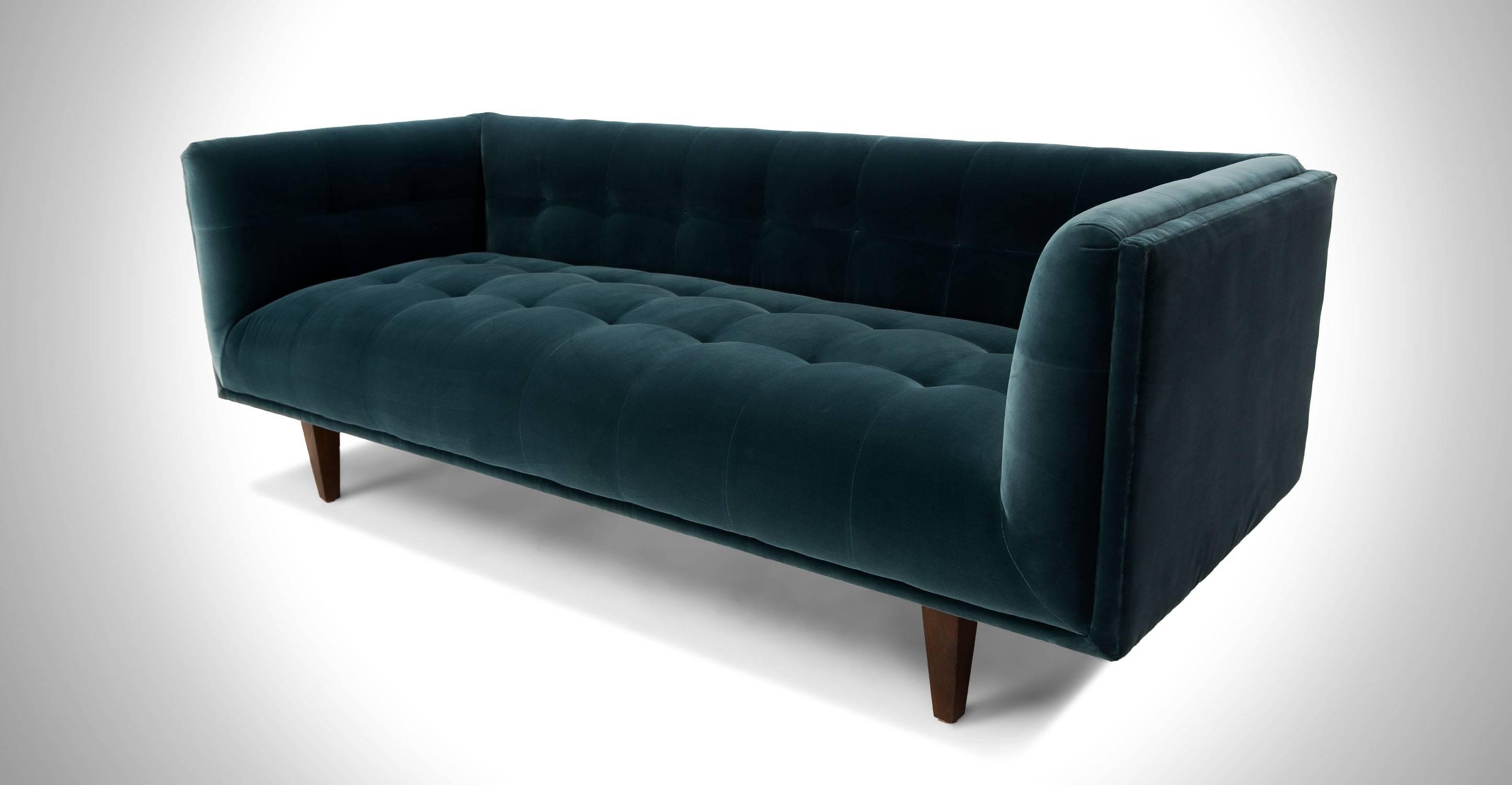 Blue Sofa   Tehranmix Decoration pertaining to Blue Tufted Sofas (Image 5 of 30)
