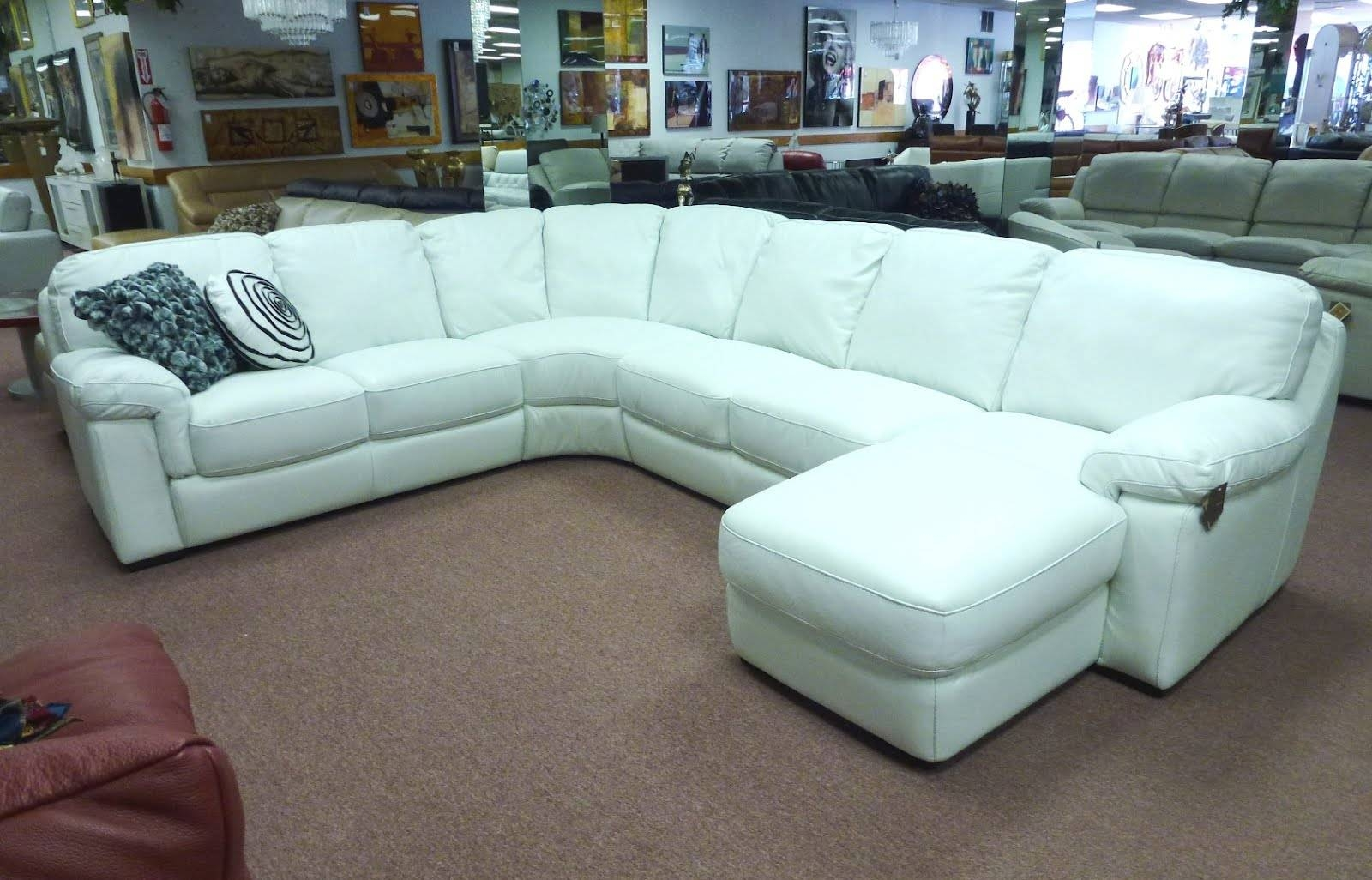 Bonded Leather White Sectional Sofa - S3Net - Sectional Sofas Sale within White Sectional Sofa For Sale (Image 5 of 30)