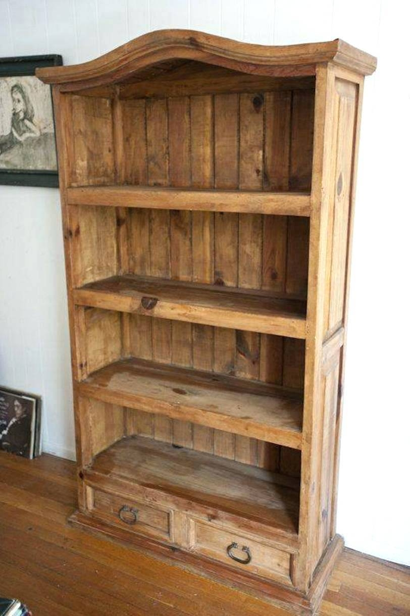 Bookcase Mexican Pine Furniture With Drawers Cat Shelves For with Pine Wardrobe With Drawers and Shelves (Image 5 of 30)