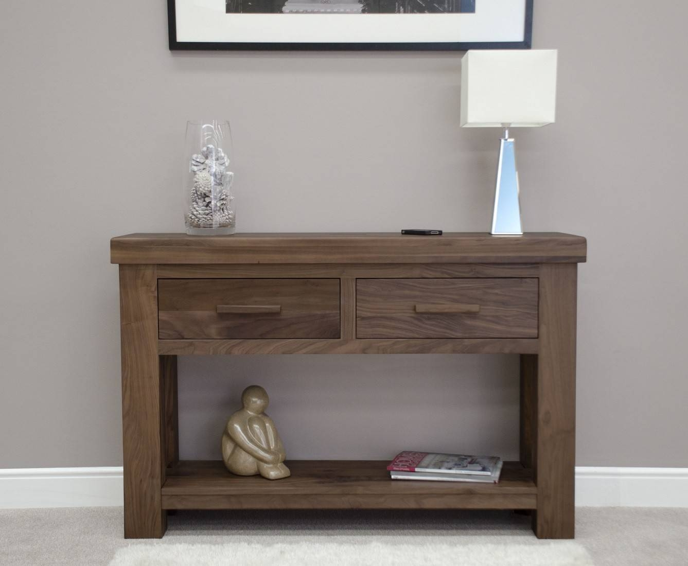 Bordeaux Solid Walnut Hall / Console Table | Oak Furniture Uk with regard to Hall Sideboards (Image 11 of 30)