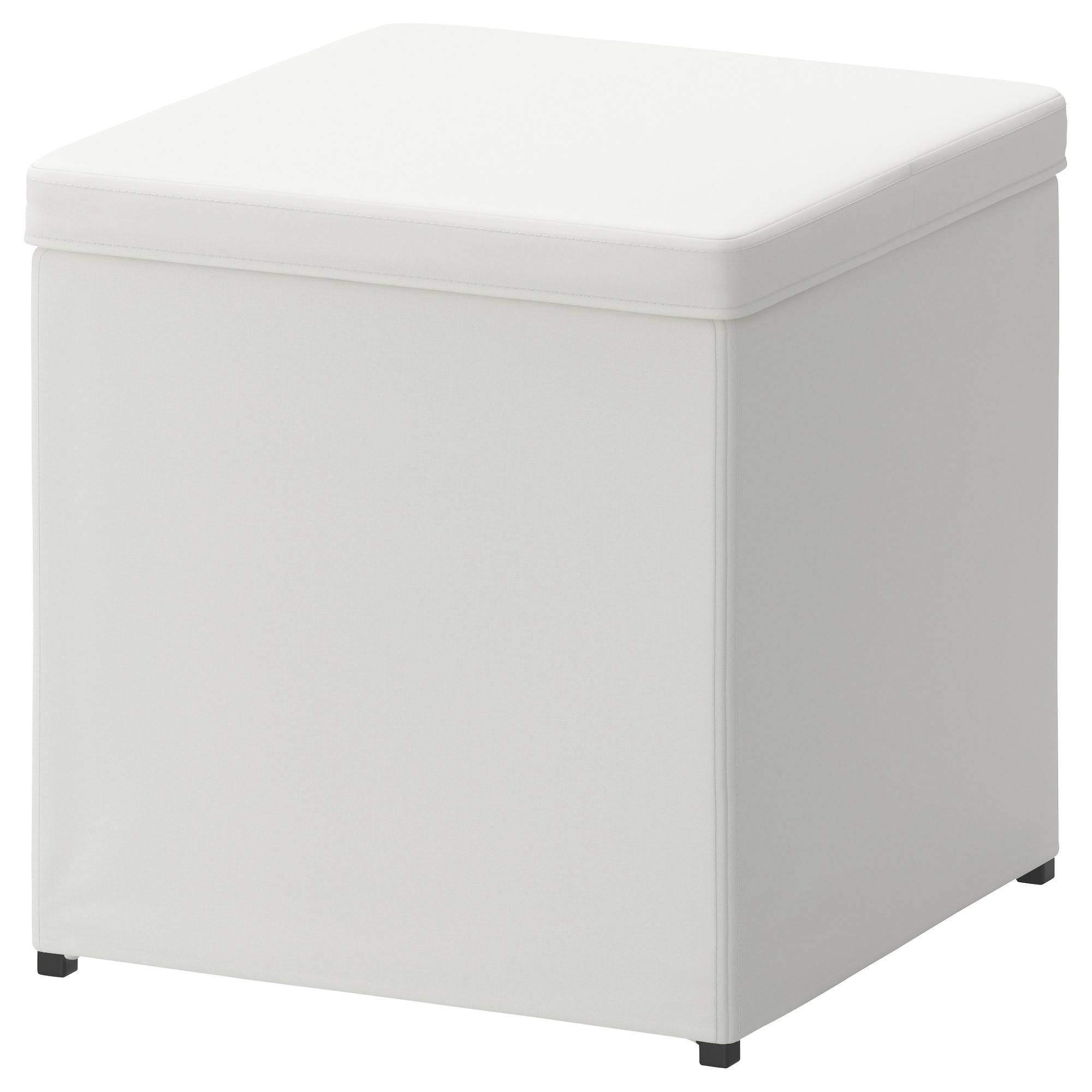 Bosnäs Footstool With Storage Ransta White - Ikea throughout Footstools And Pouffes (Image 3 of 30)