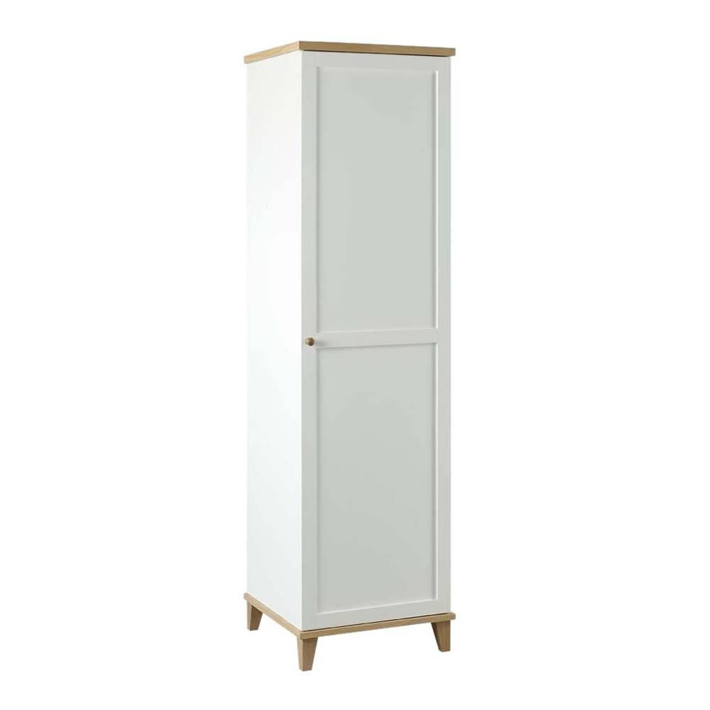 Boston-Lyon Wardrobe White + Ash 1 Door At Wilko regarding Small Single Wardrobes (Image 4 of 15)