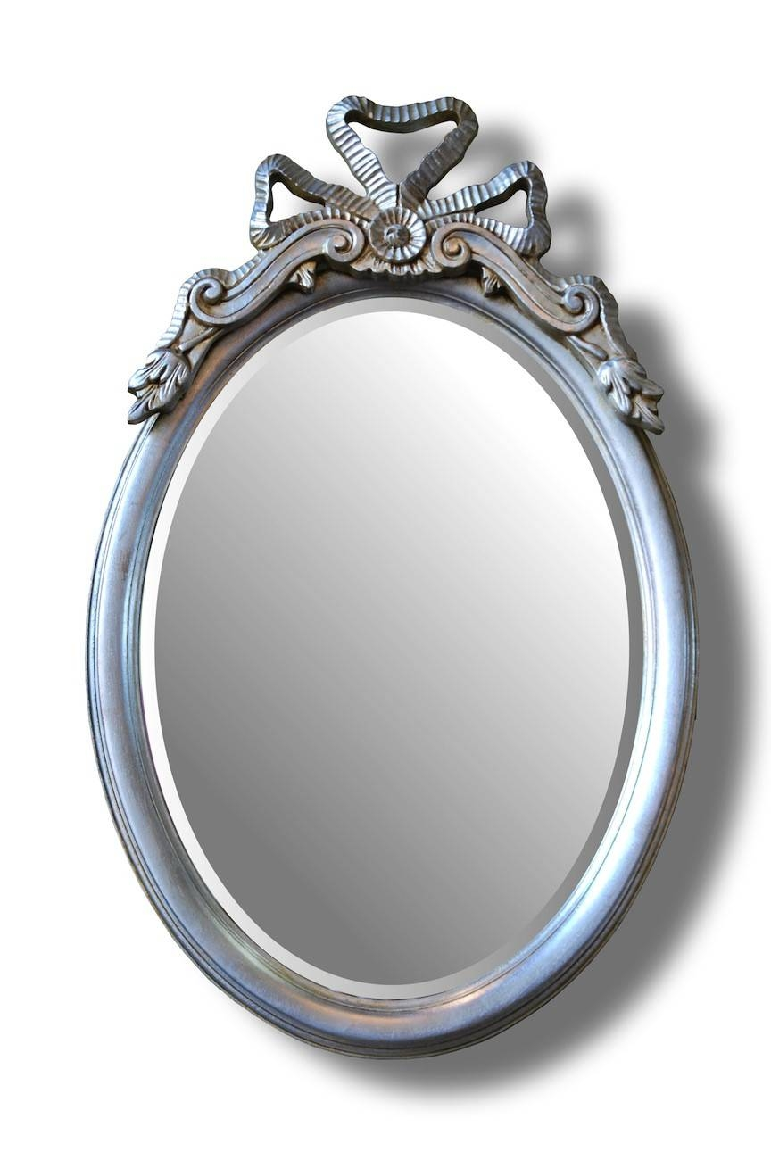 Bow Top Oval Mirror | Hall Mirrors For Sale - Panfili Mirrors inside Silver Oval Mirrors (Image 5 of 25)