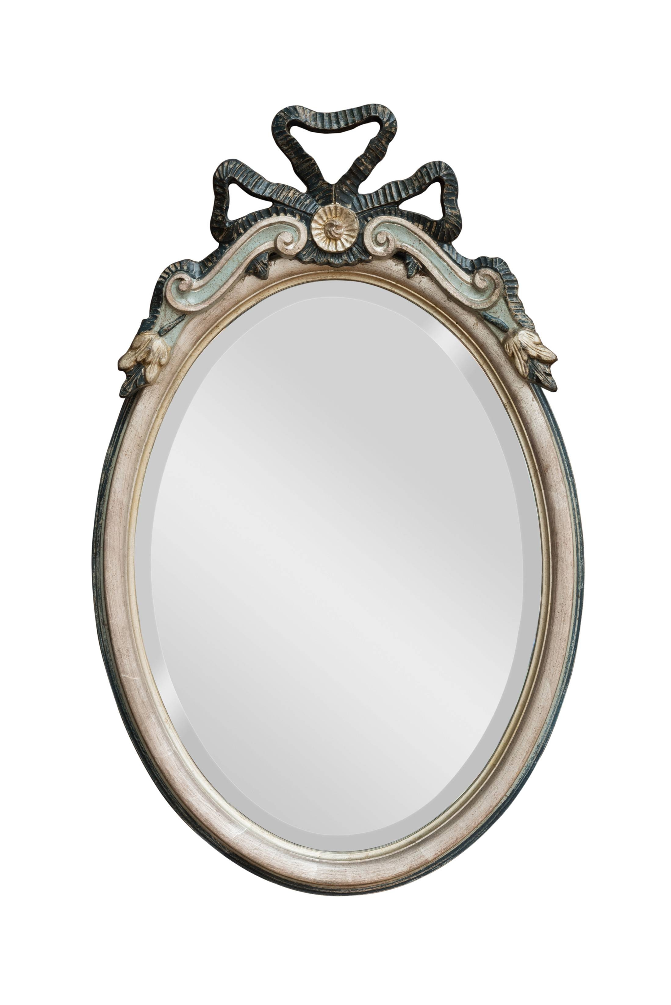 Bow Top Oval Mirror | Hall Mirrors For Sale - Panfili Mirrors regarding Silver Oval Mirrors (Image 6 of 25)