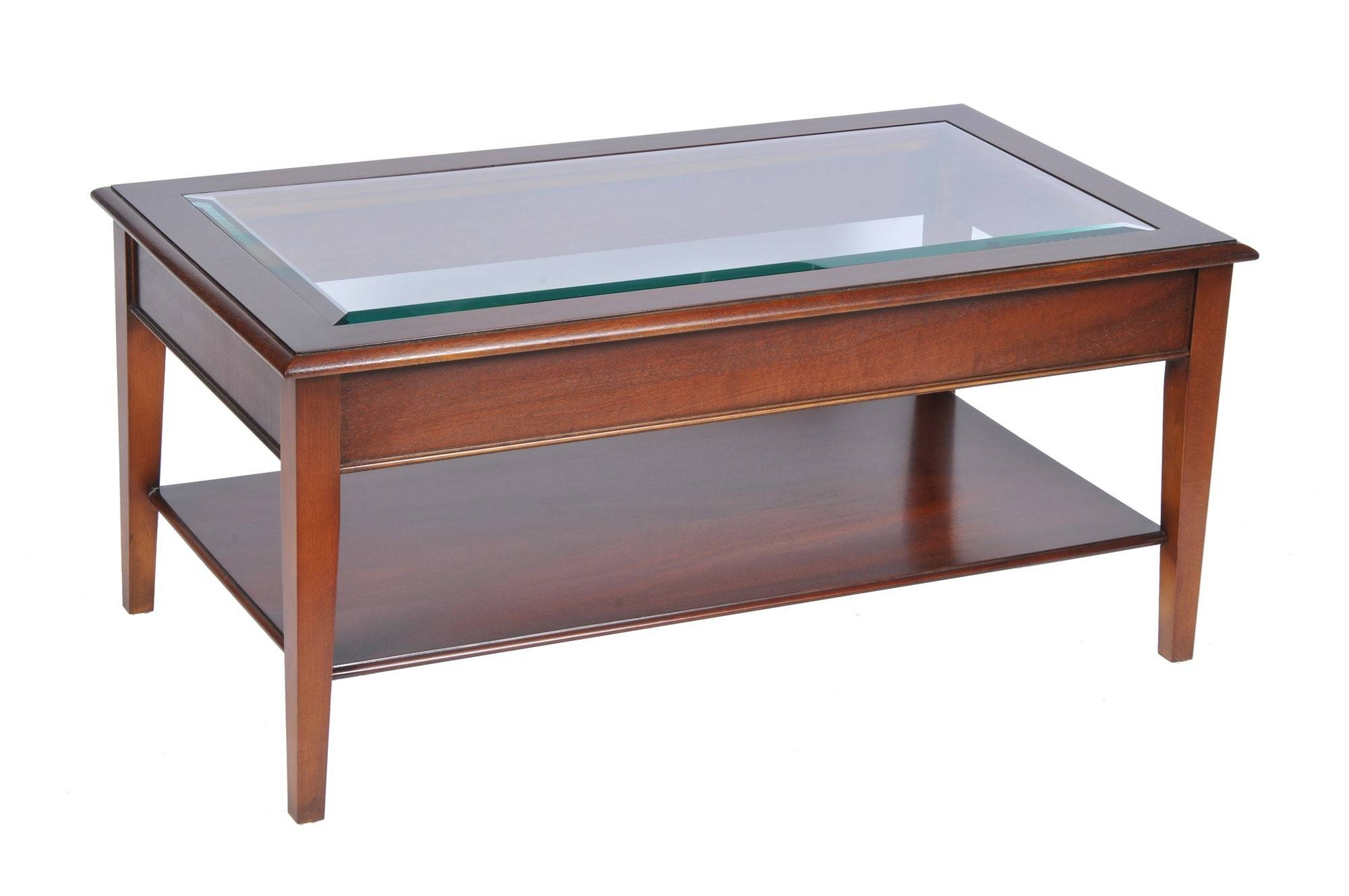 Bradley Mahogany 875 Glass Top Coffee Table | Tr Hayes - Furniture with Mahogany Coffee Tables (Image 4 of 30)