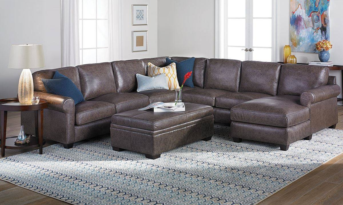 Bradley Top-Grain Leather & Feather Sectional Sofa | The Dump for Bradley Sectional Sofa (Image 15 of 30)
