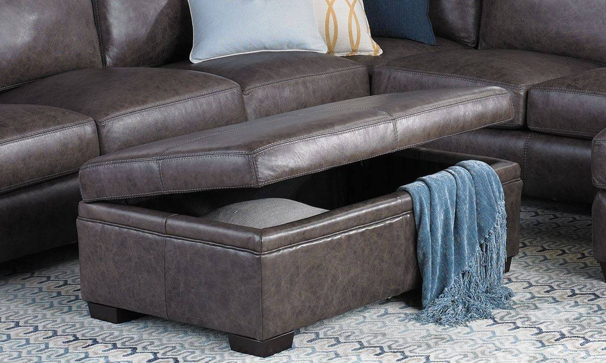 Bradley Top-Grain Leather & Feather Sectional Sofa | The Dump pertaining to Bradley Sectional Sofa (Image 16 of 30)