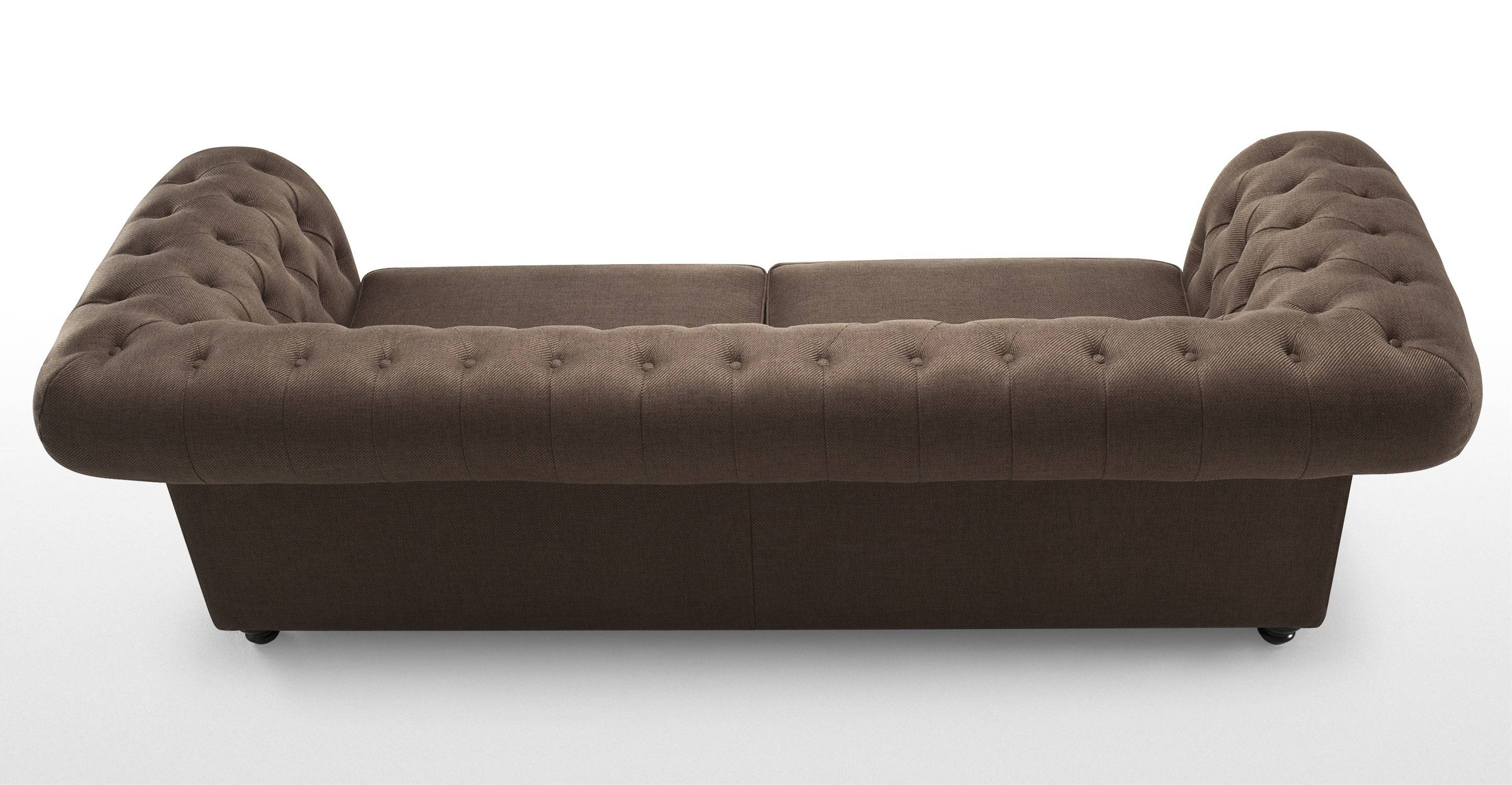 Branagh 3 Seater Brown Chesterfield Sofa | Made in Chesterfield Furniture (Image 6 of 30)