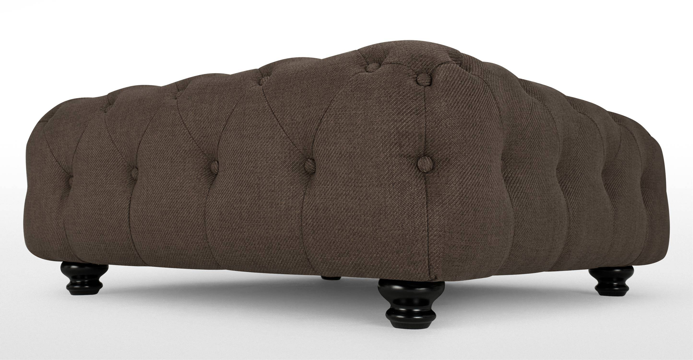 Branagh Large Footstool In Nutty Brown | Made intended for Large Footstools (Image 11 of 30)
