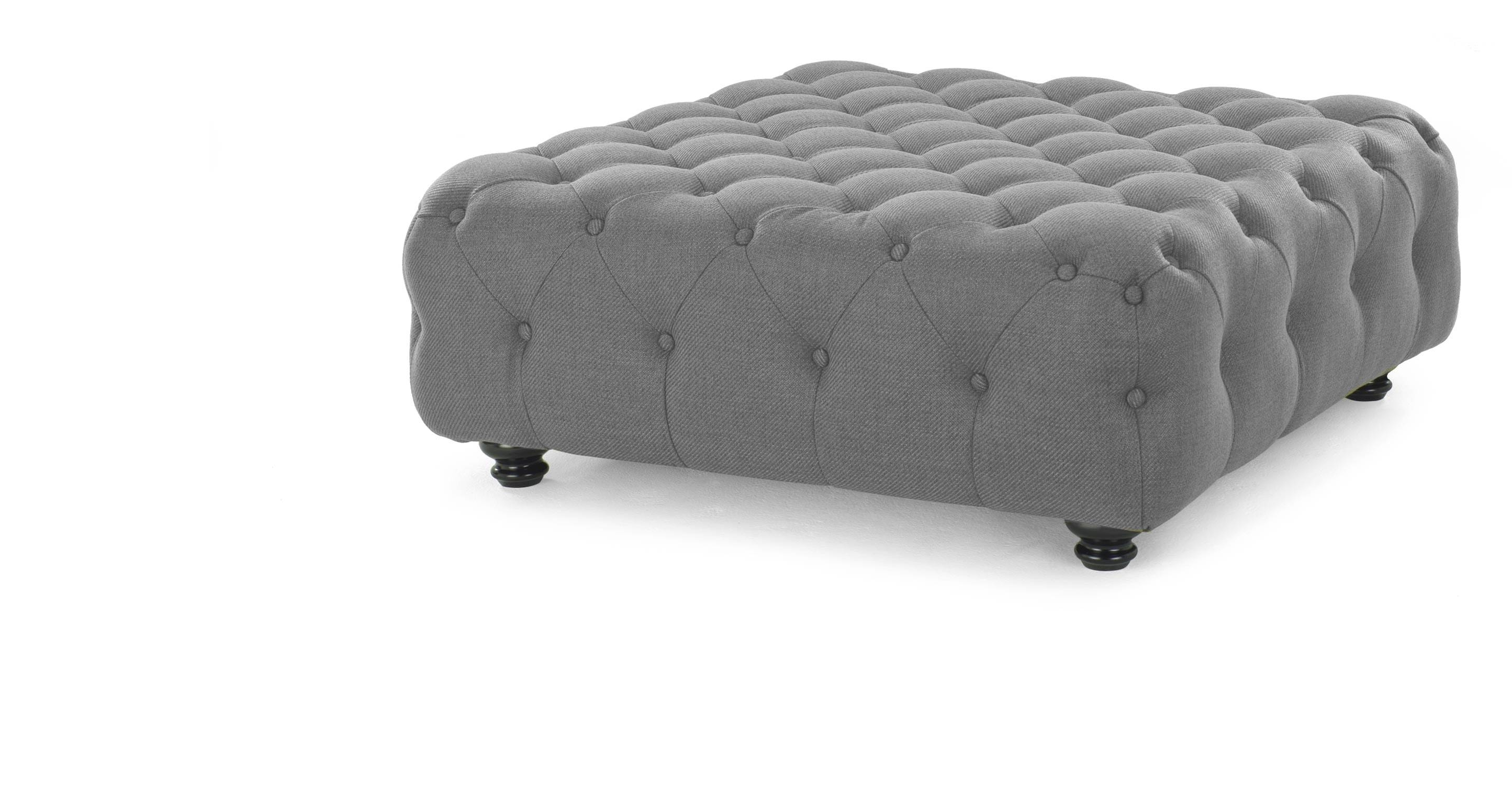 Branagh Large Footstool In Pearl Grey | Made throughout Large Footstools (Image 12 of 30)